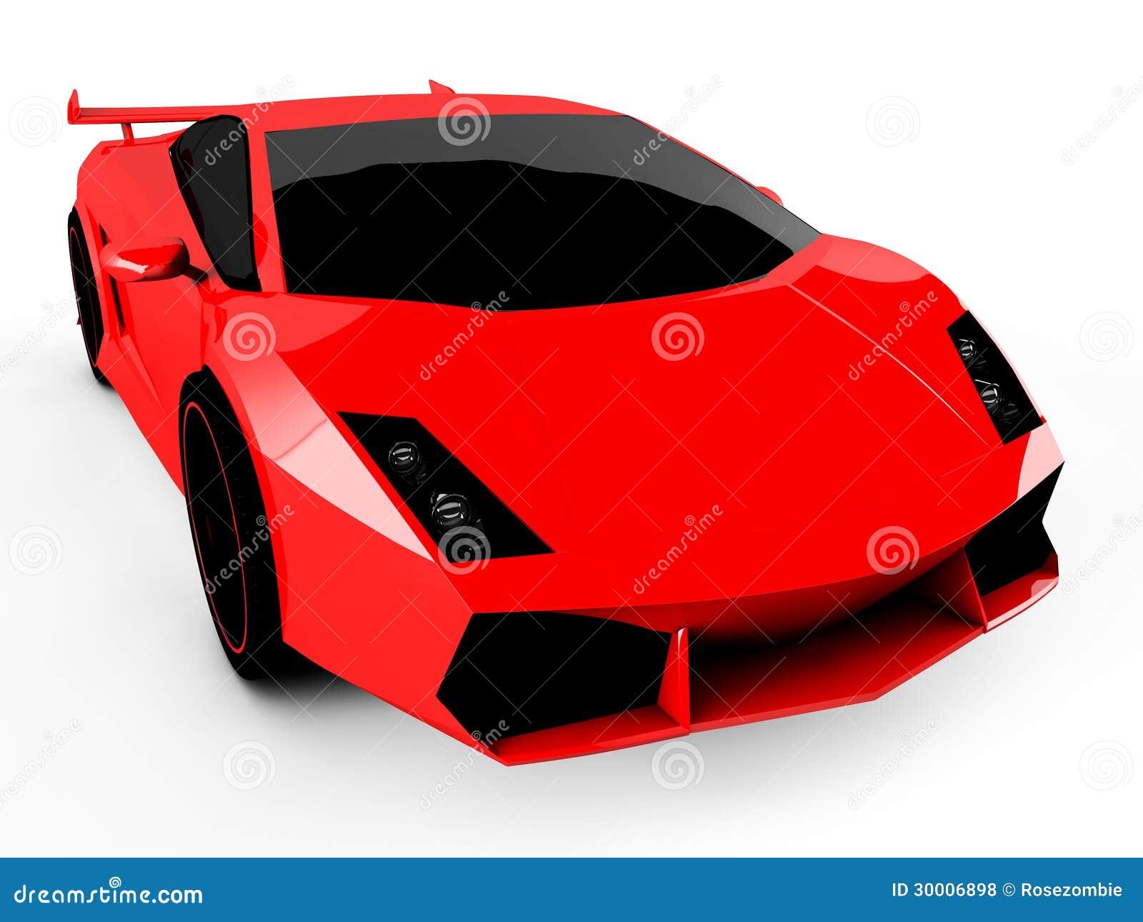 voiture de sport rouge sur le fond blanc photos libres de droits image 30006898. Black Bedroom Furniture Sets. Home Design Ideas