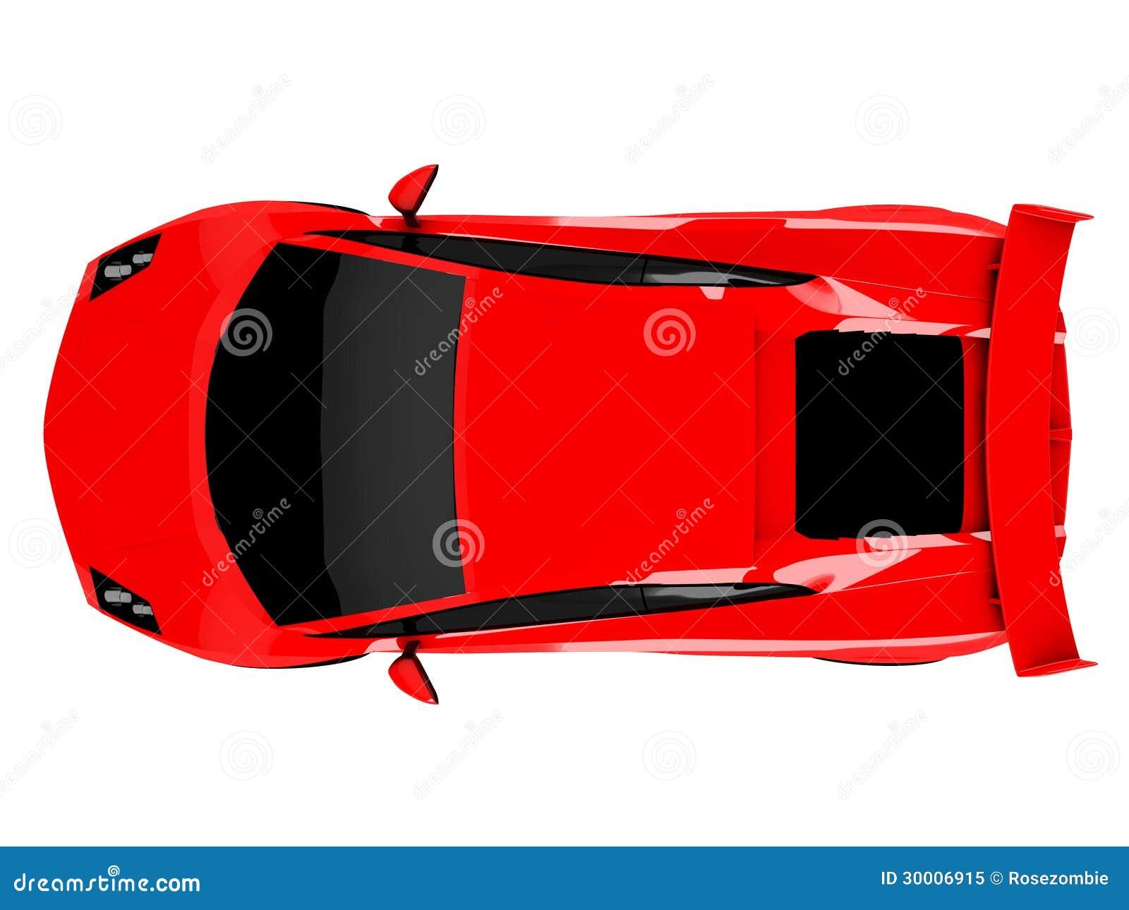 voiture de sport rouge sur le fond blanc photo libre de droits image 30006915. Black Bedroom Furniture Sets. Home Design Ideas