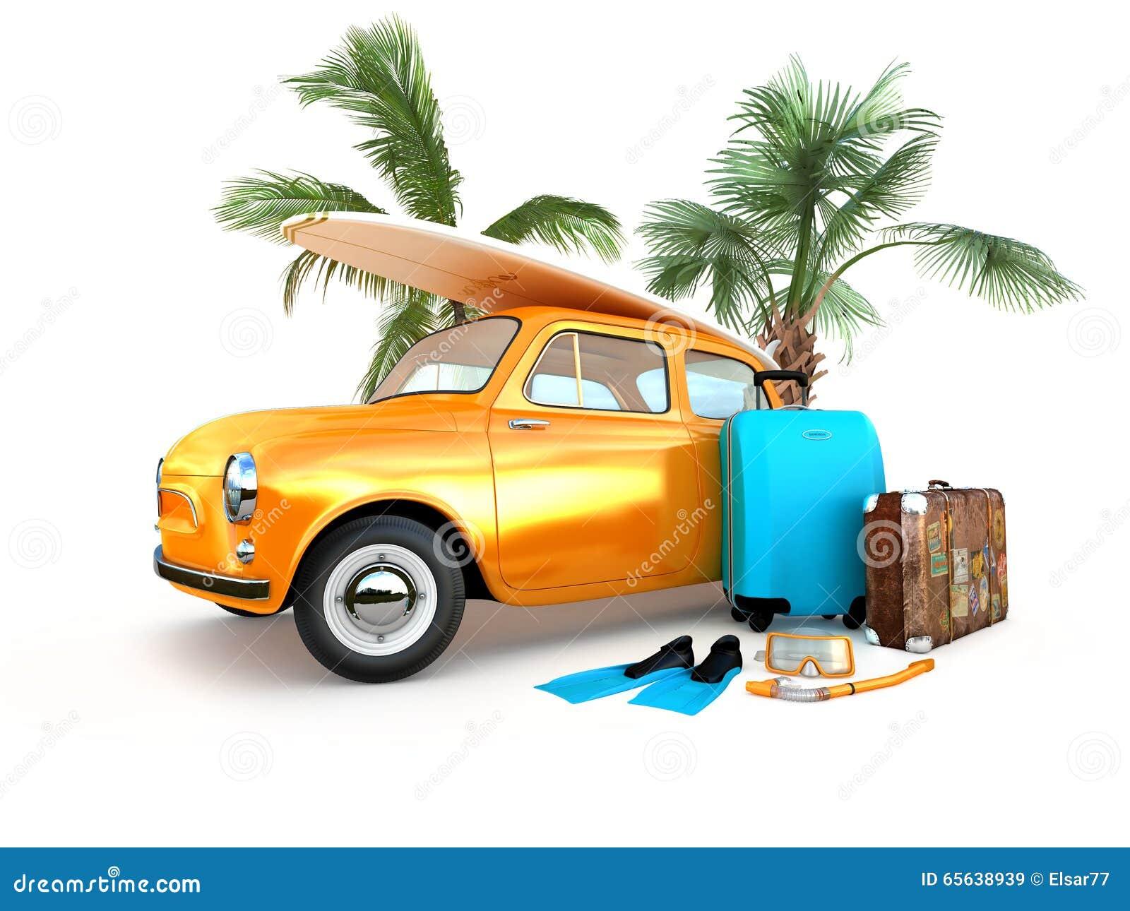 Voiture de voyage de vintage