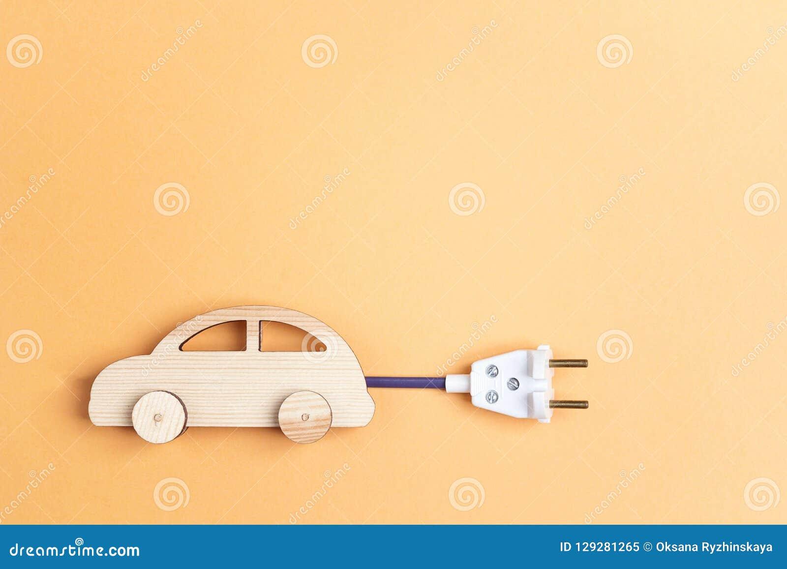 En Bois Avec Câble Prise Sym Voiture De La Comme Électrique Jouet N80vOmwn