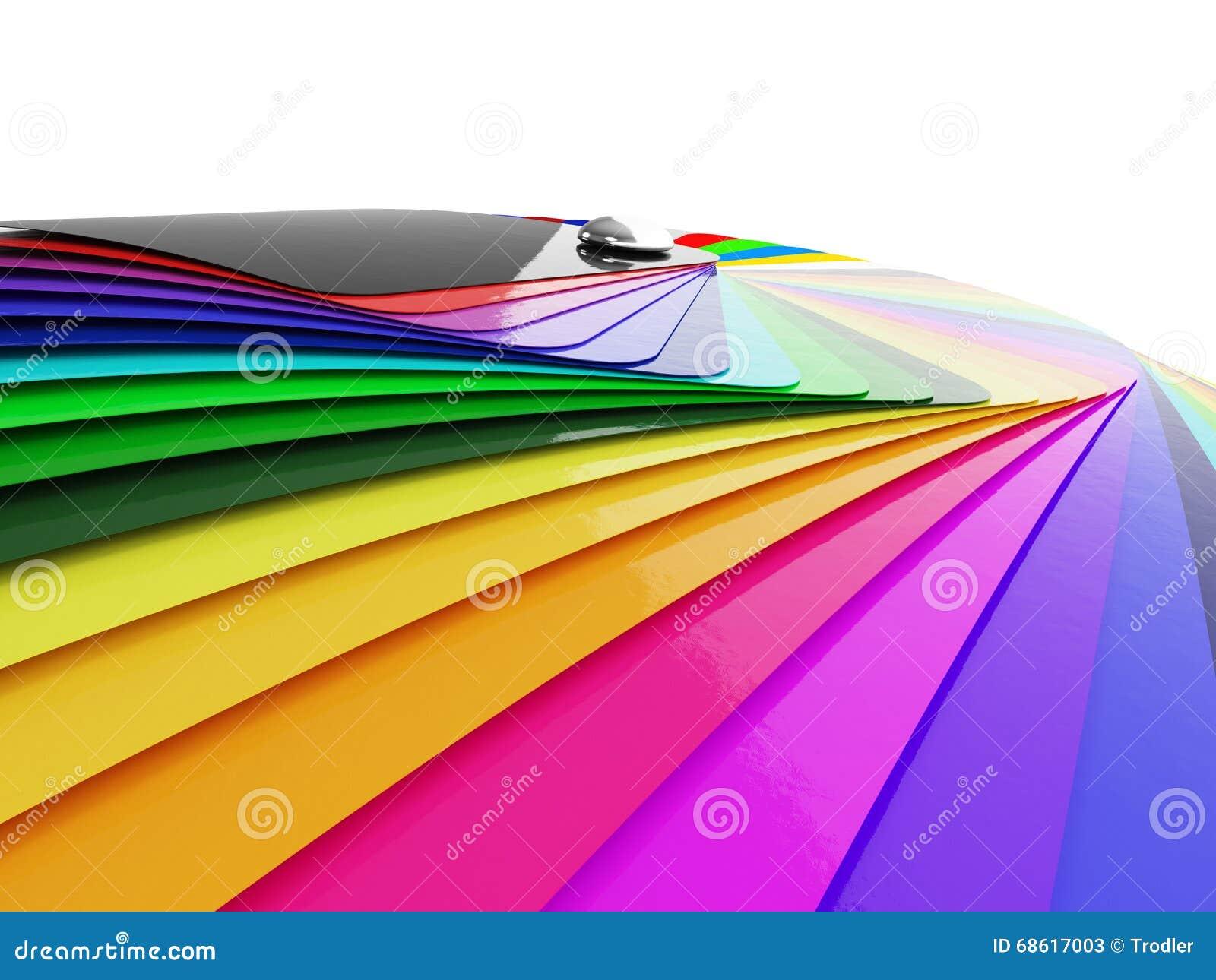 Voiture enveloppant l échantillon de palette de couleurs de film