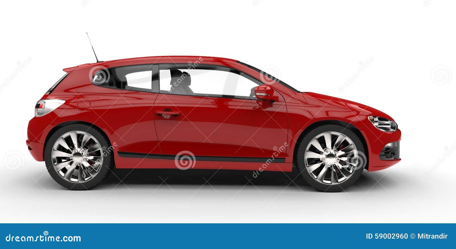 voiture familiale rouge vue de c t illustration stock illustration du brillant luxe 59002960. Black Bedroom Furniture Sets. Home Design Ideas