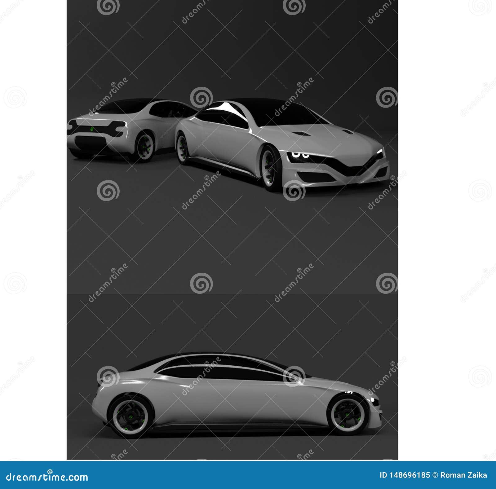 Voiture grise de carbone de pointe pour les entrepreneurs et l enthousiaste de voiture