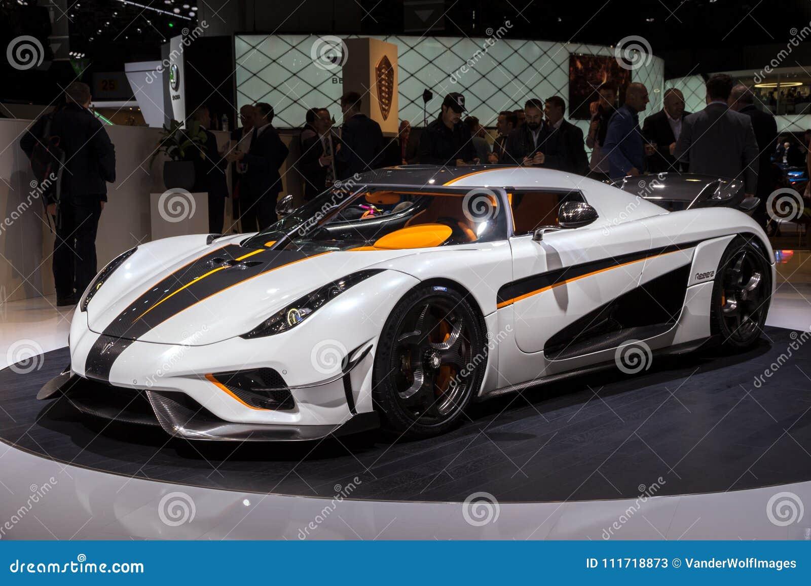Voiture Hyper De Koenigsegg Regera Photo Stock éditorial Image Du