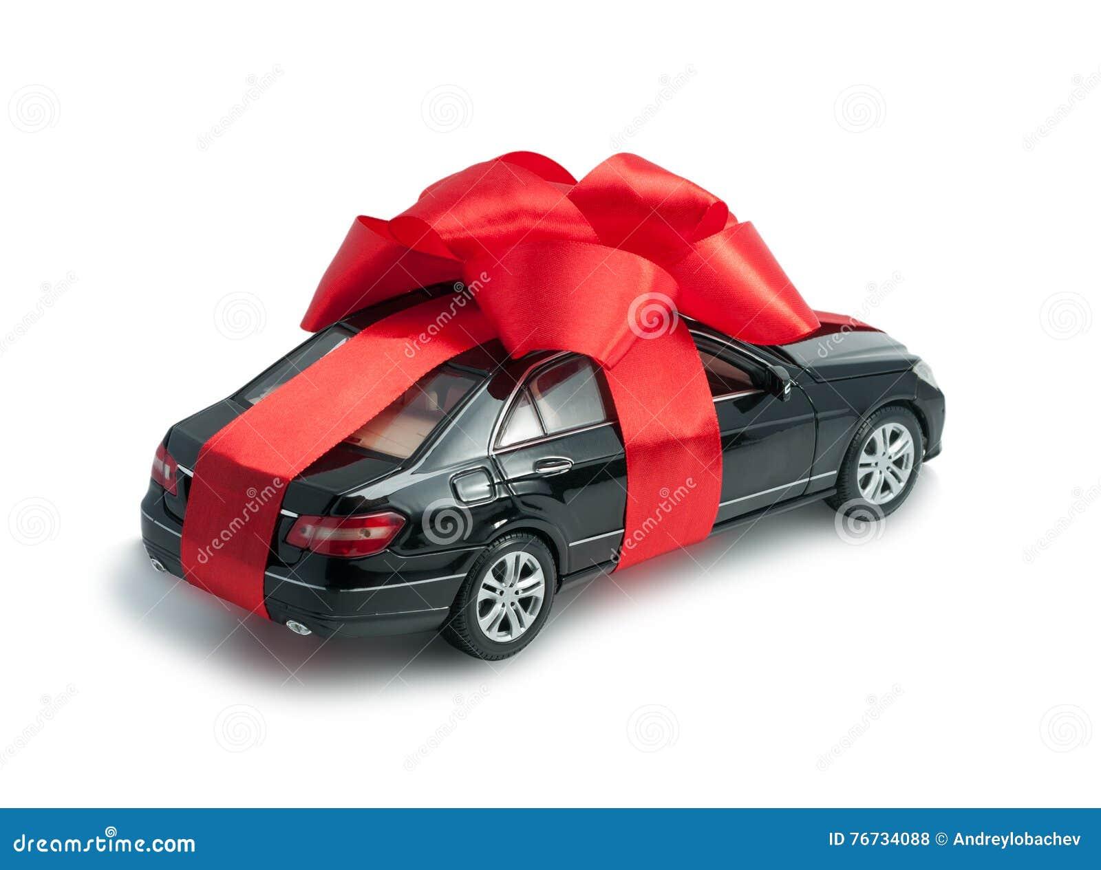 voiture noire pour un cadeau avec un arc rouge photo stock image du chantillon affaires. Black Bedroom Furniture Sets. Home Design Ideas