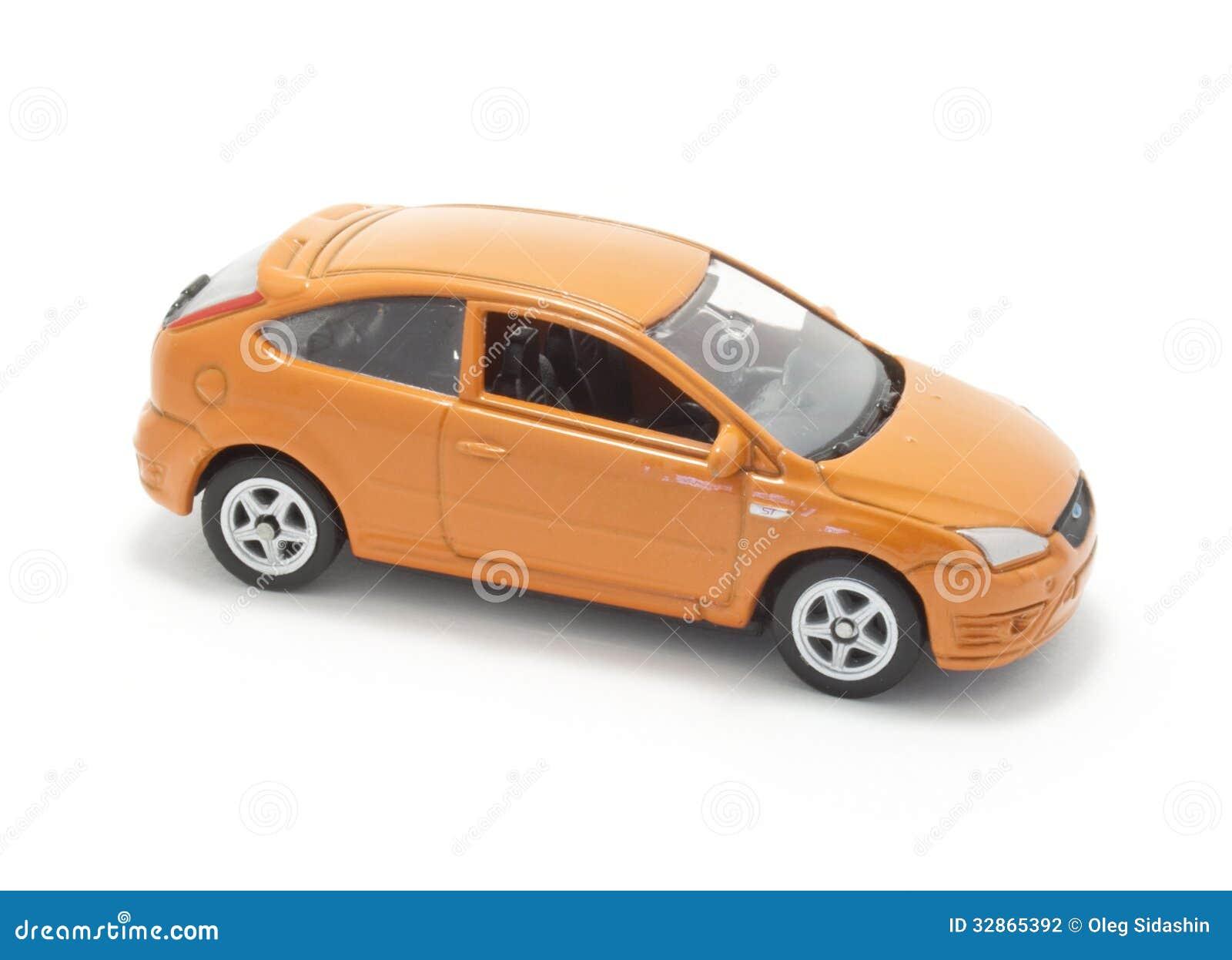 voiture orange de jouet photo stock image du coupure 32865392. Black Bedroom Furniture Sets. Home Design Ideas