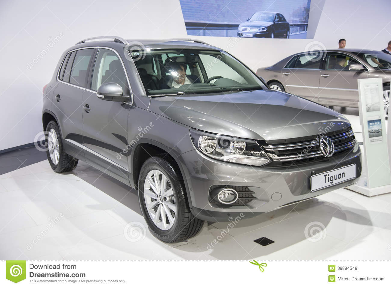 voiture tiguan grise de volkswagen photo stock ditorial image 39884548. Black Bedroom Furniture Sets. Home Design Ideas