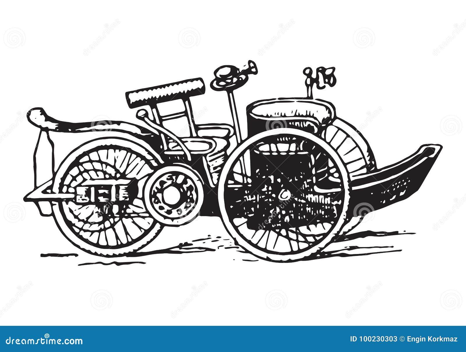 Voiturette car stock vector. Illustration of design - 100230303