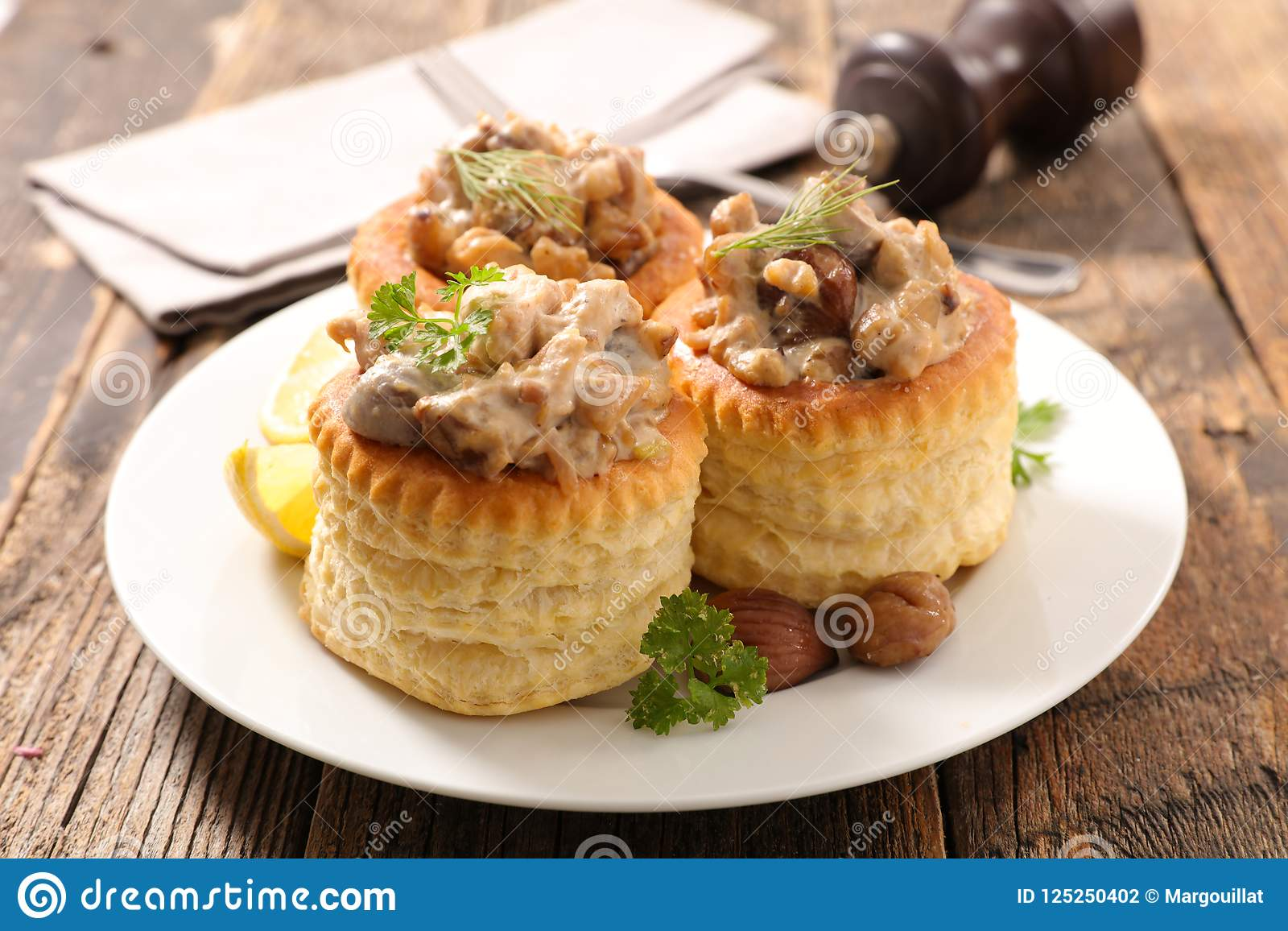 Vol Au Vent Stock Photo Image Of Lunch Food Filling 125250402