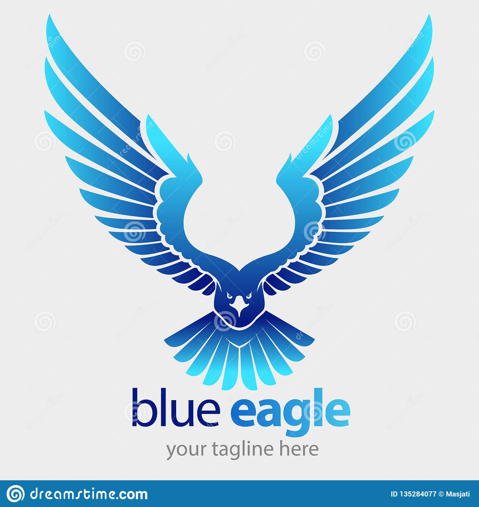 Vol bleu d aigle