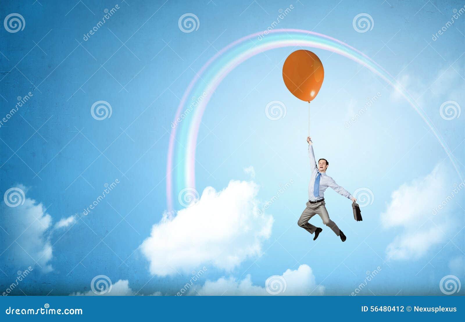 Vol d homme en ciel