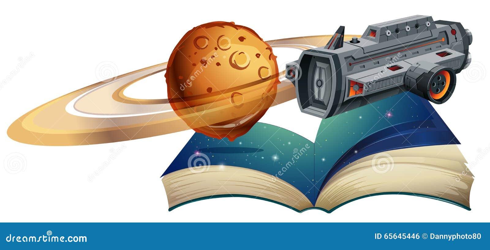 Vol de vaisseau spatial autour de la planète