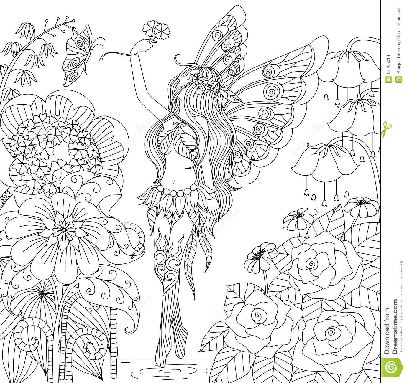 Coloriage Animaux Feeriques.Coloriage Anti Stress Feerique