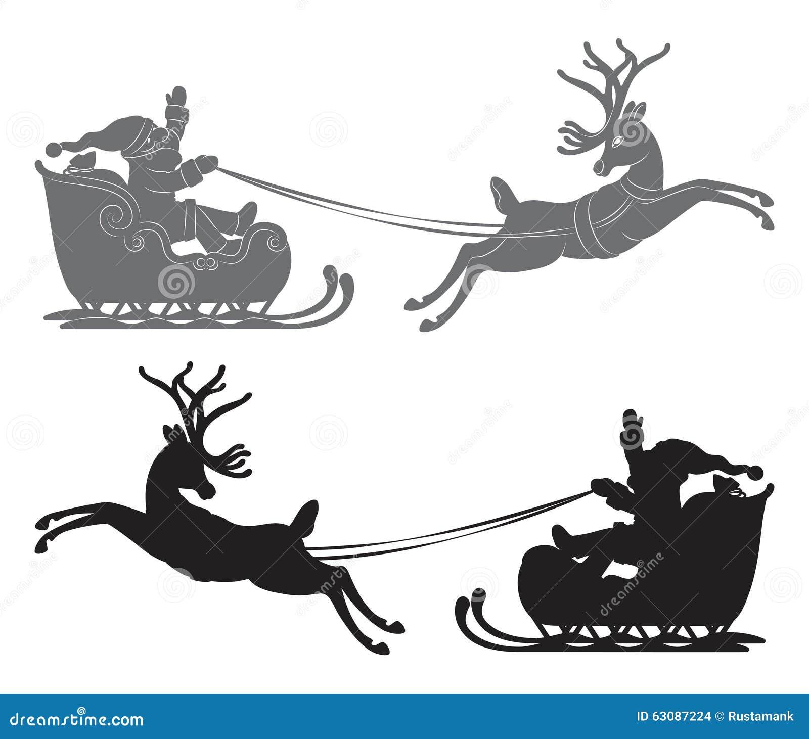 Download Vol Santa Claus Dans Un Traîneau De Renne Illustration de Vecteur - Illustration du dessin, saison: 63087224