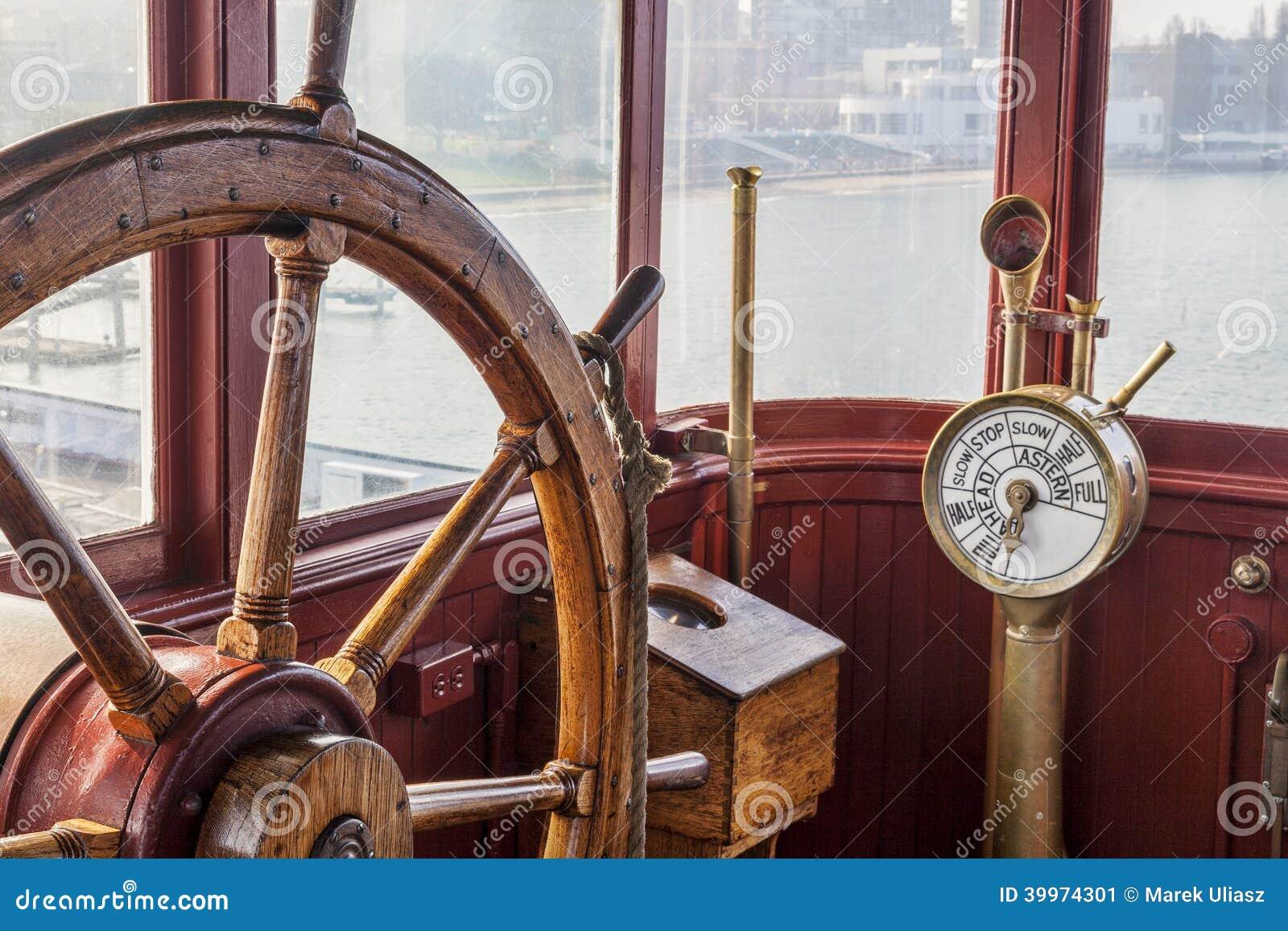 Volante de la nave del vintage