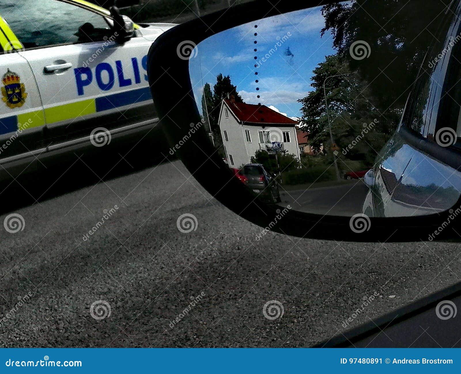 Volante della polizia in Svezia
