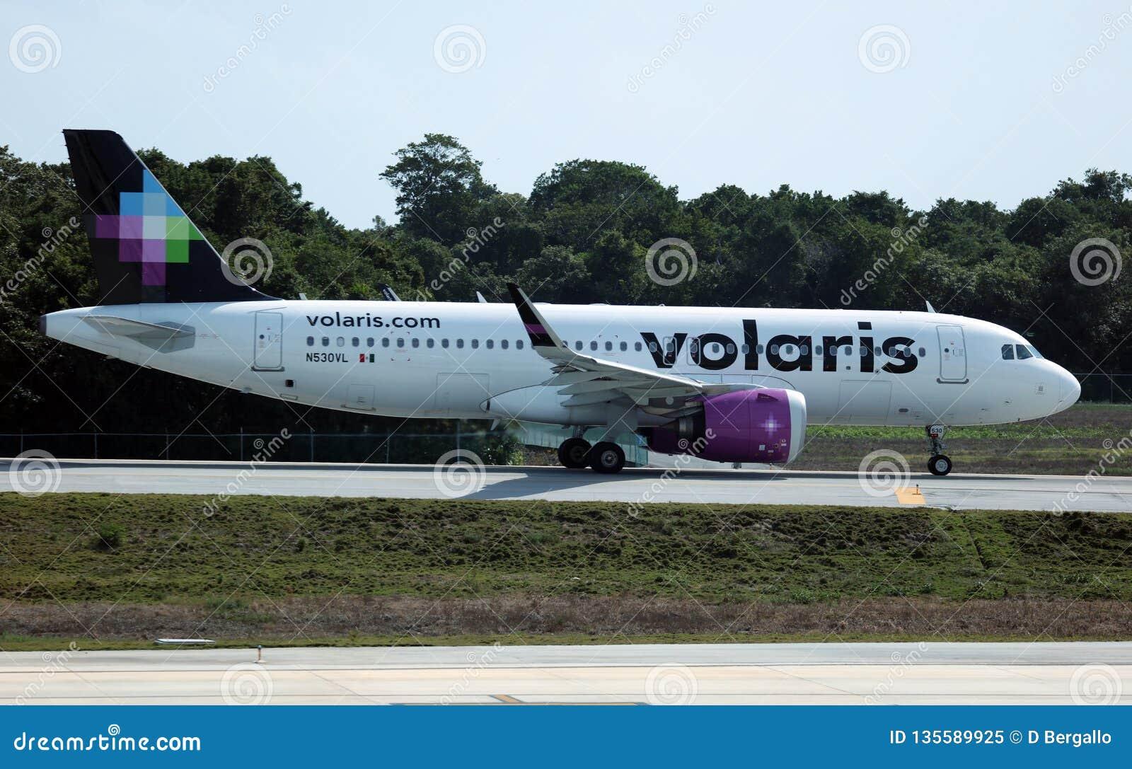 Volaris Airbus 320 Taking Off CUN Cancun Mexico Editorial