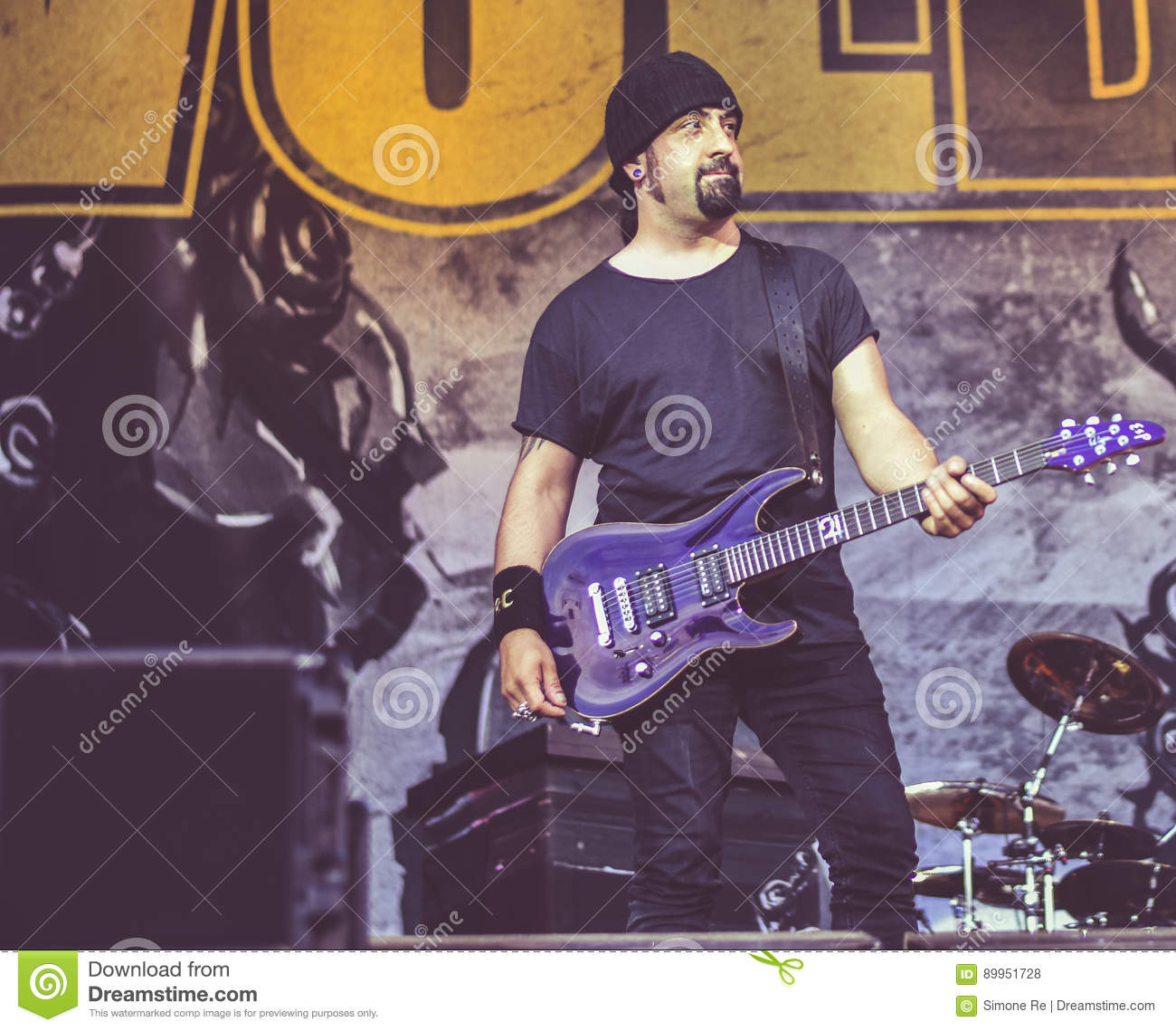 Volbeat Live Concert 2016 Heavy Metal Band Editorial Stock