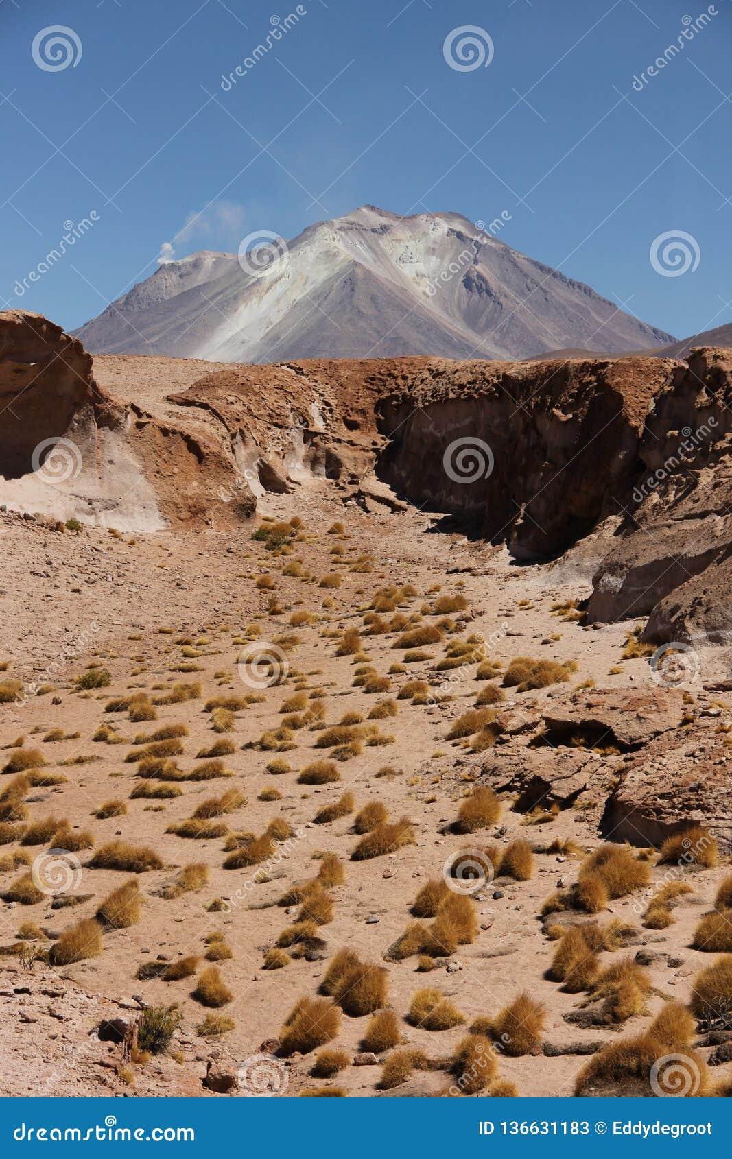 Volcán en el boliviano Altiplano