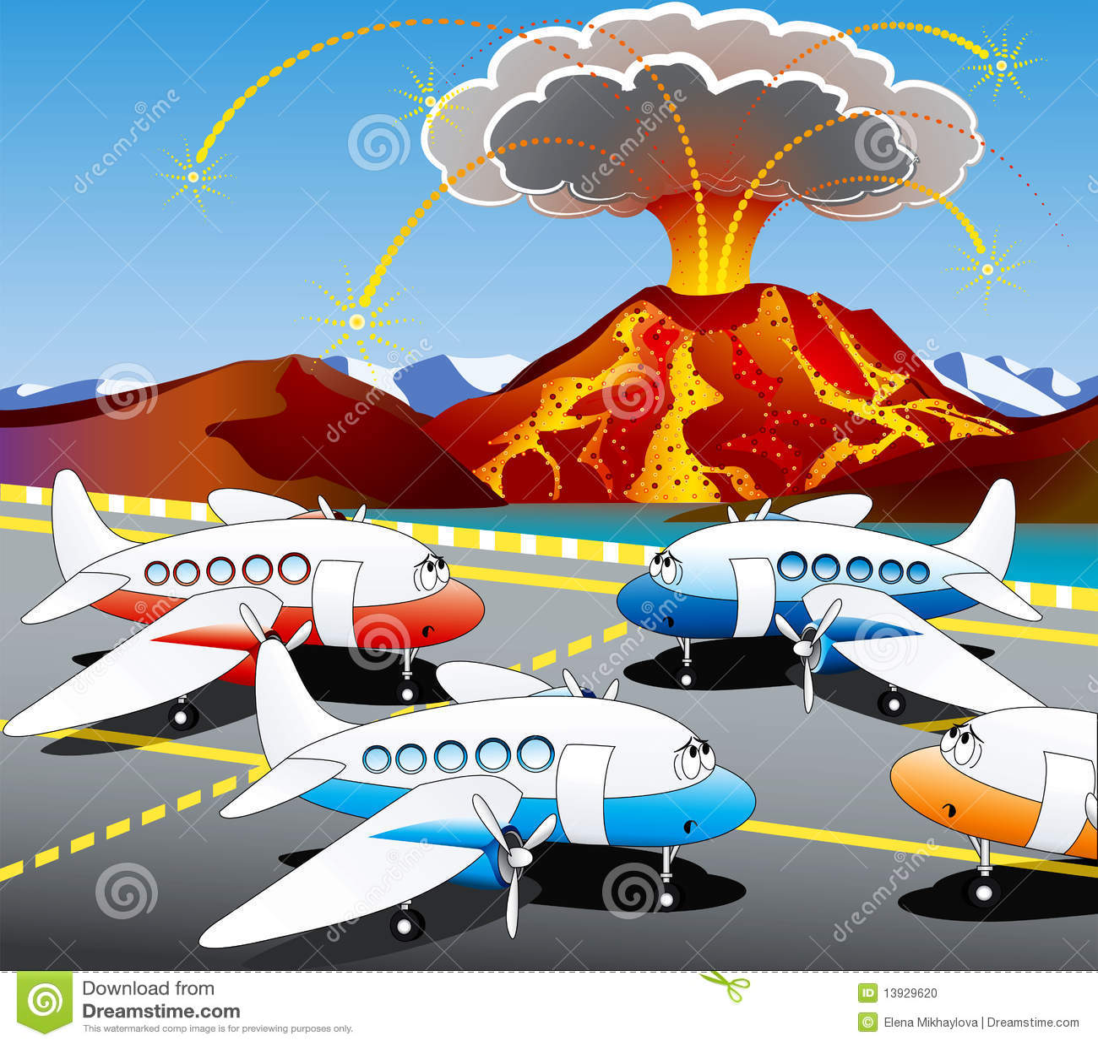 Volcan de l Islande
