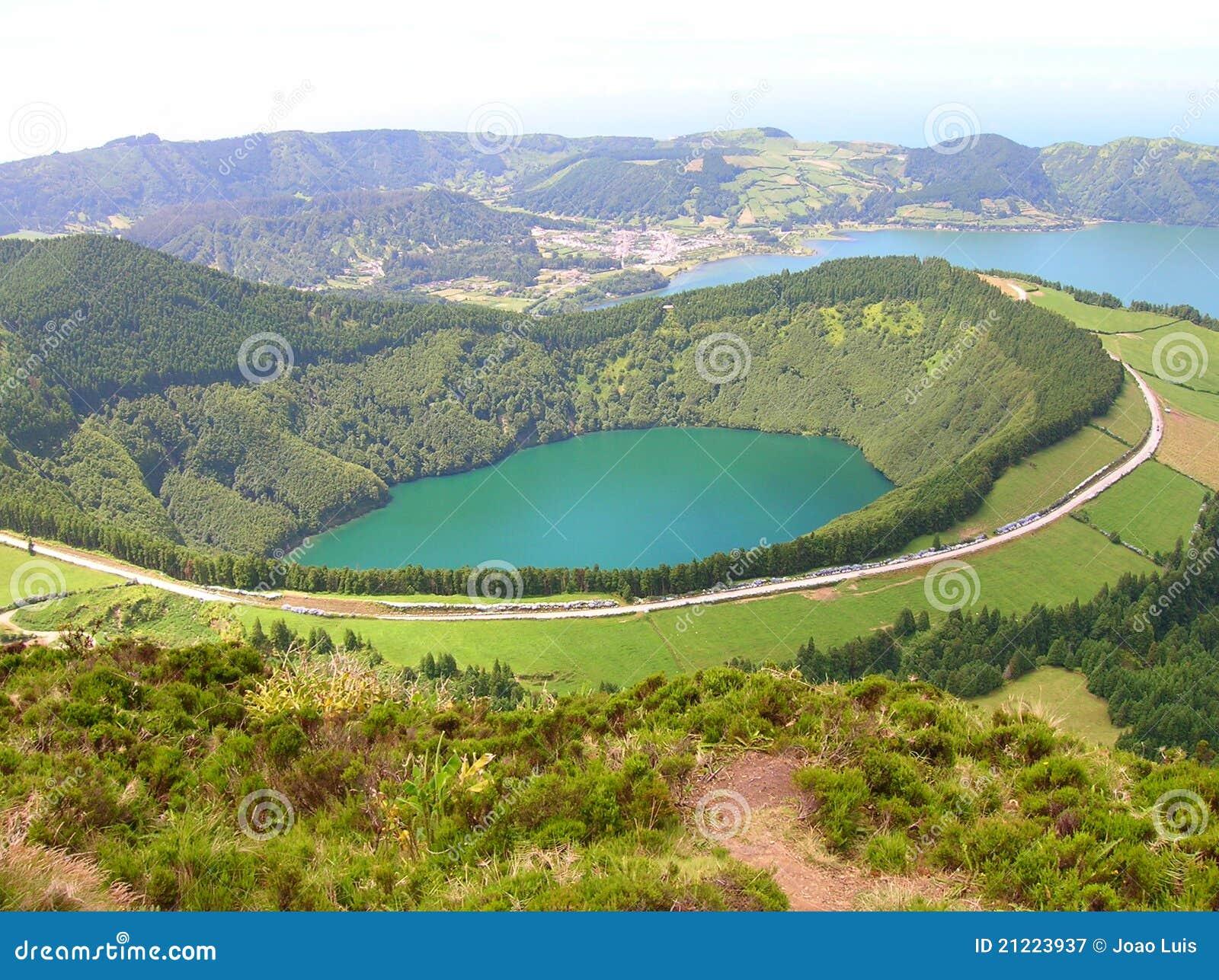 Volcanic caldera stock image. Image of scenic, seaside ...