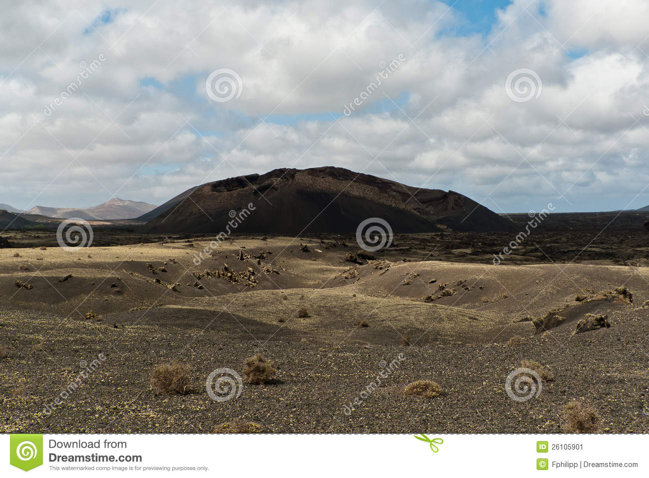Volcanic mountains and craters on Lanzarote