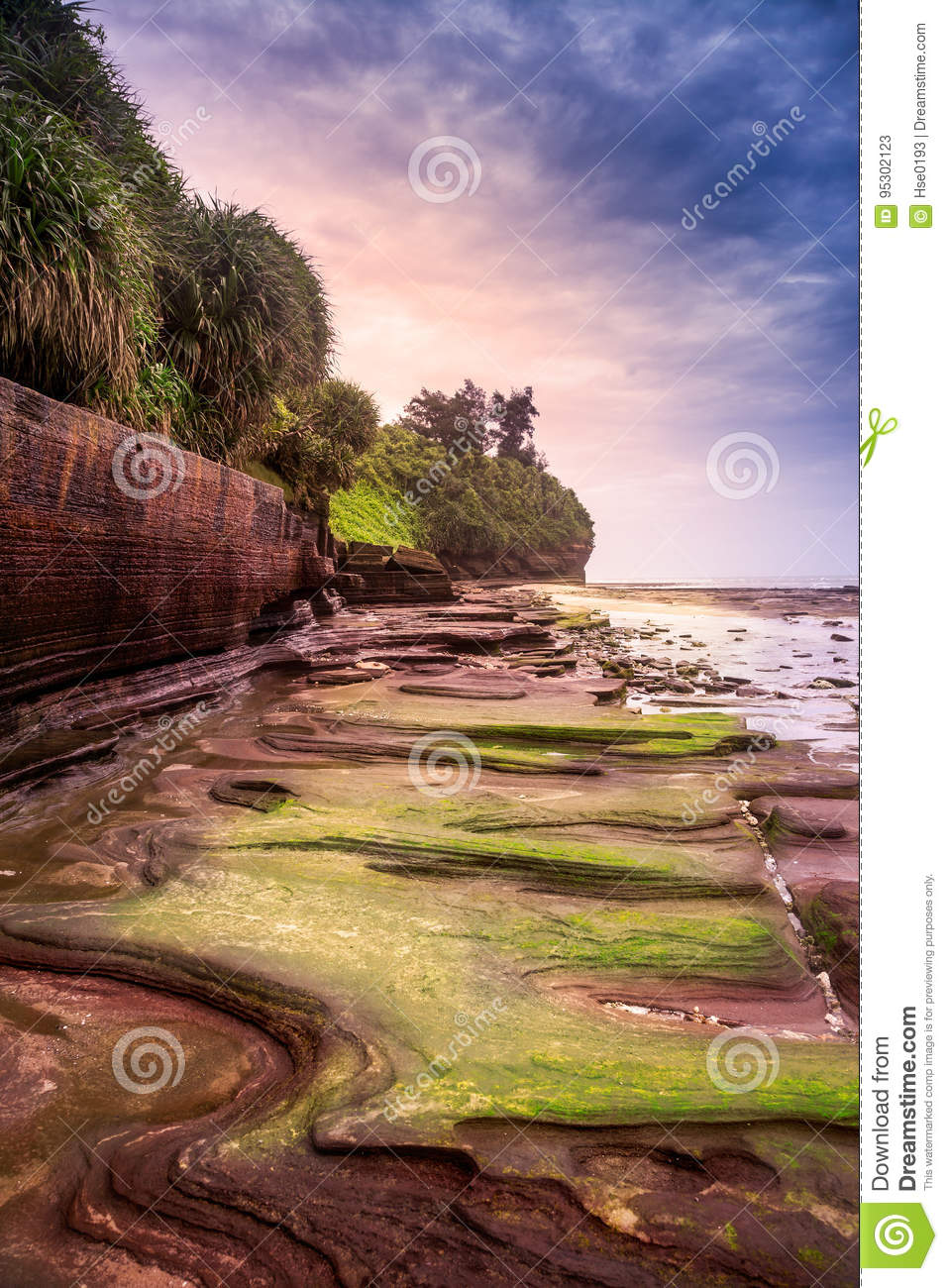 Volcanic rocks in the Colorful beach, Weizhou Island