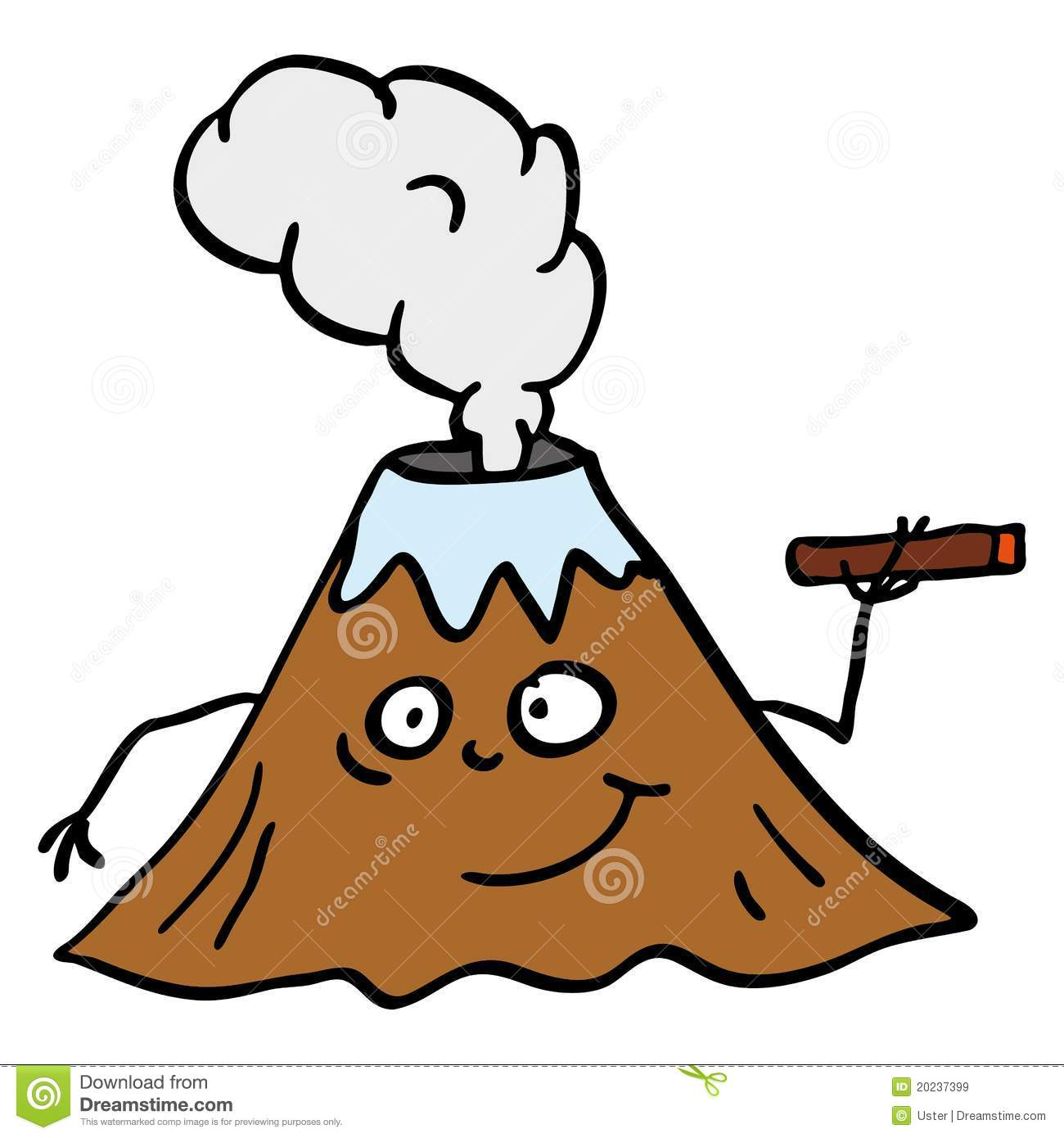 V Is For Volcano Clipart Volcano Royalty...