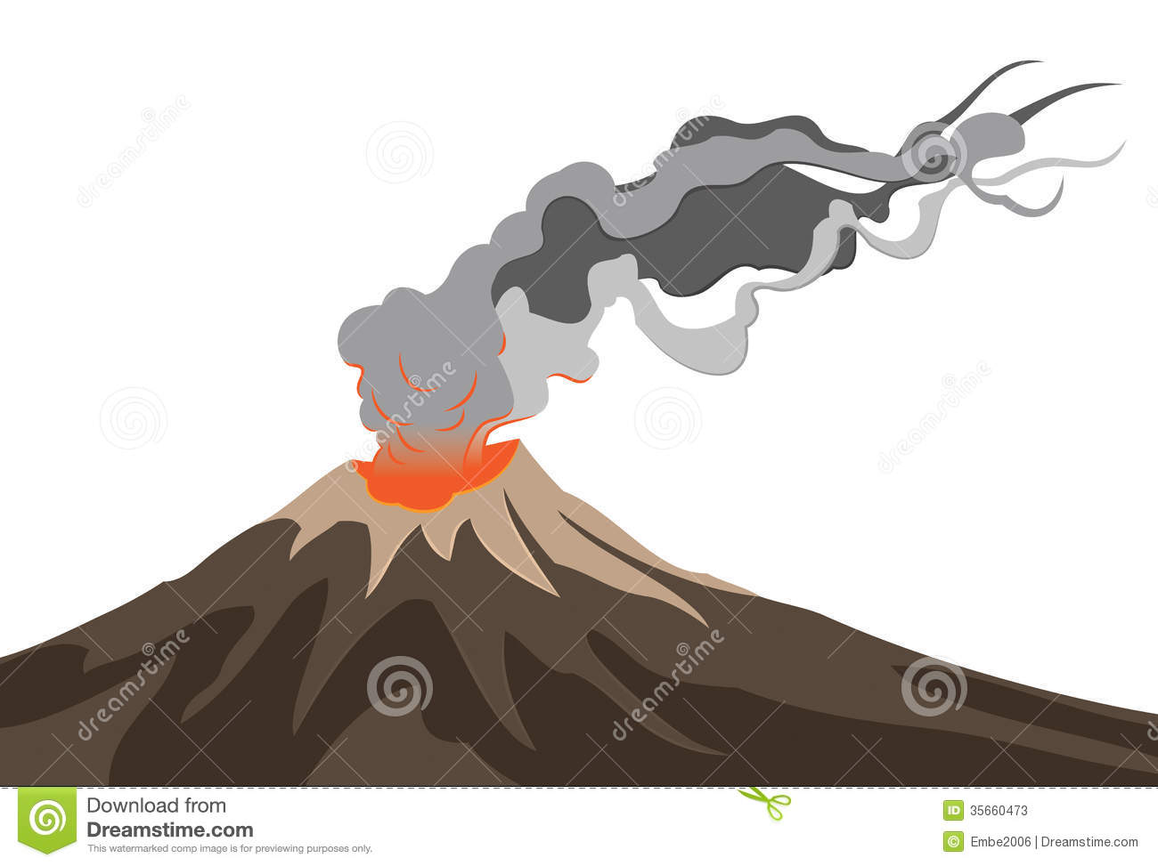 V Is For Volcano Clipart Volcano Clipart Volcano