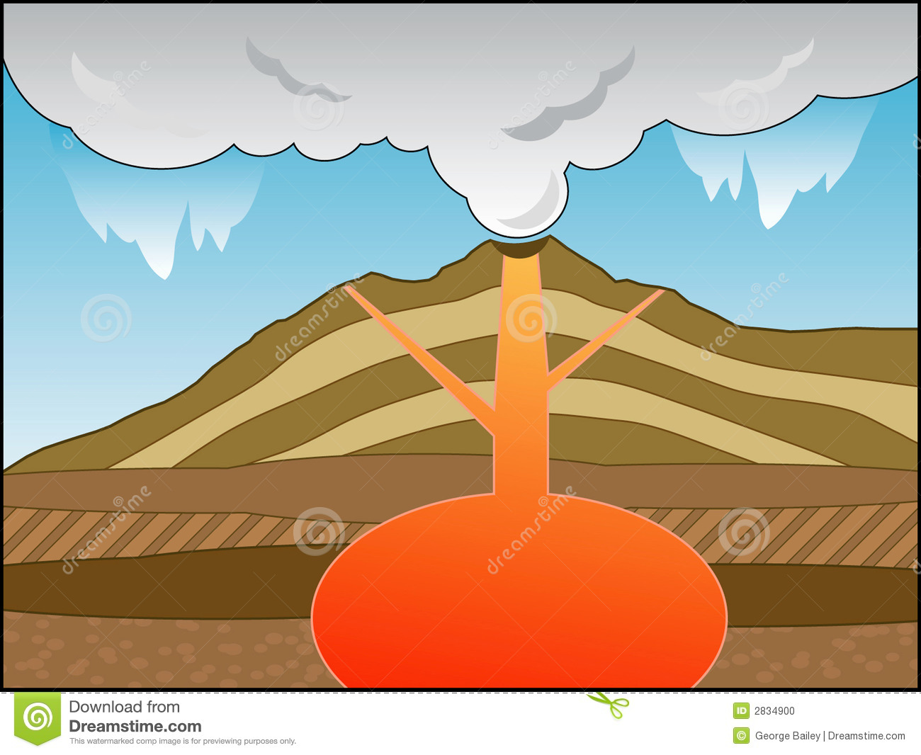Volcano cross section stock vector illustration of magma 2834900 ccuart Image collections
