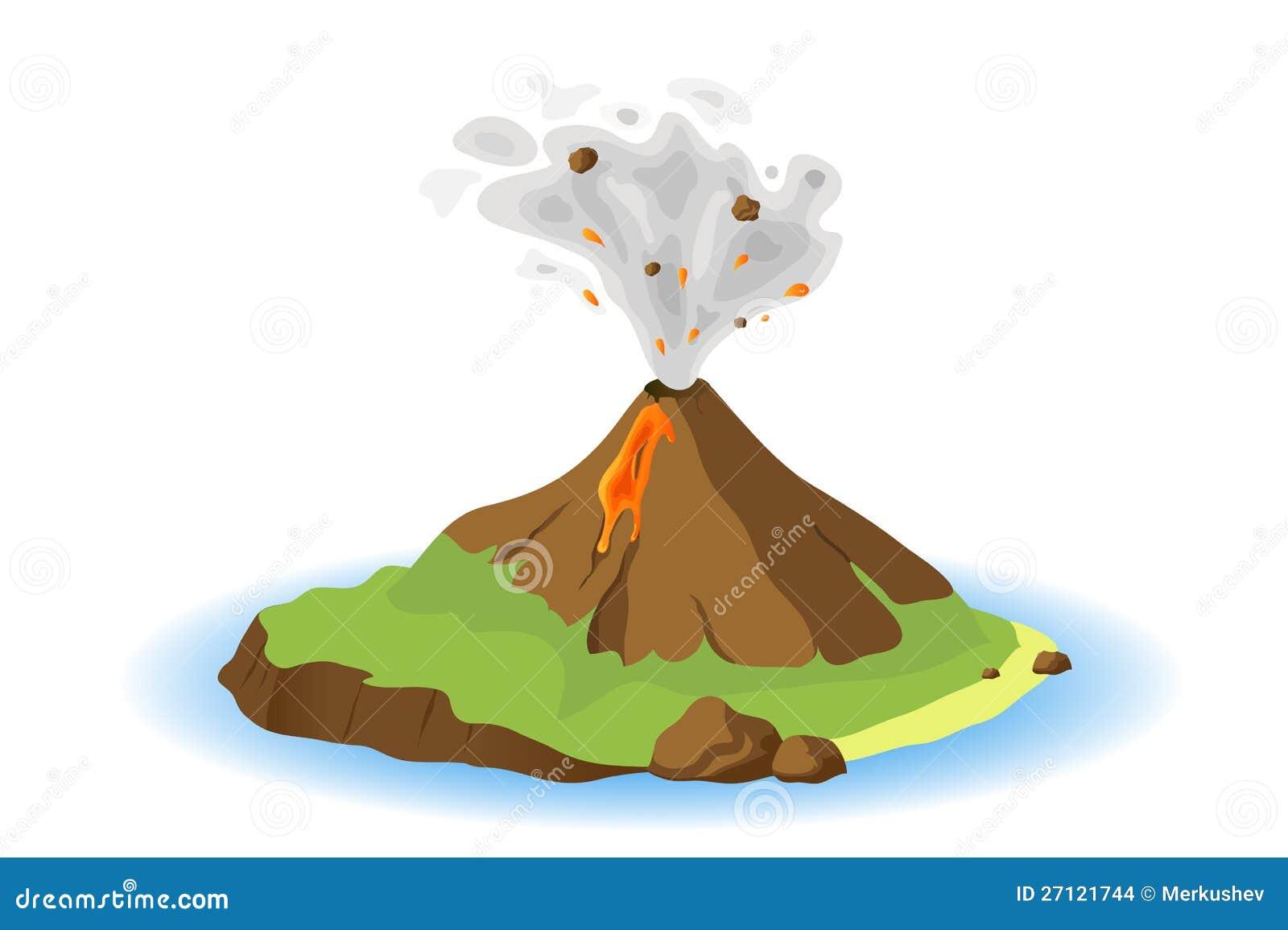 V Is For Volcano Clipart Volcano Eruption Clipart