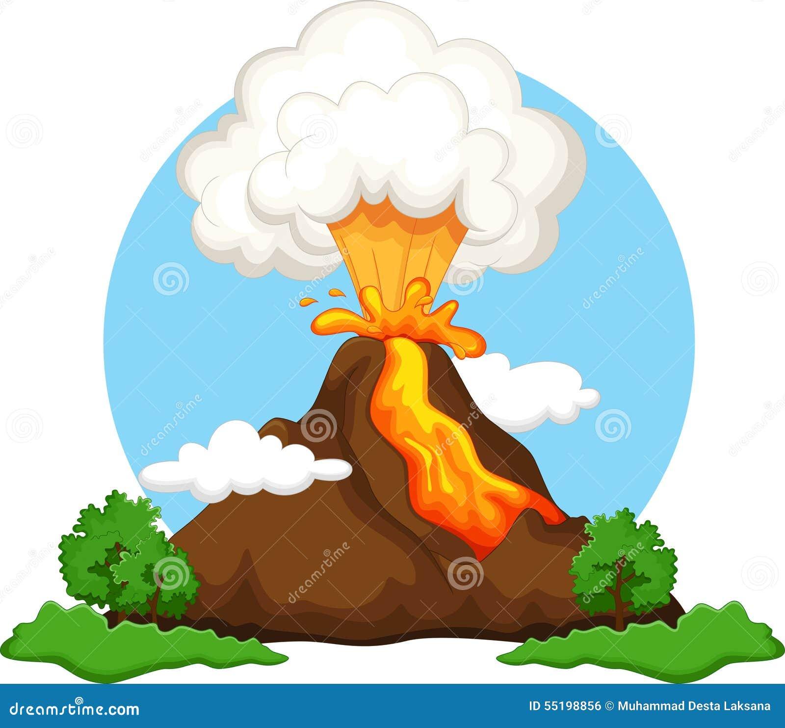 free clipart volcano erupting - photo #45