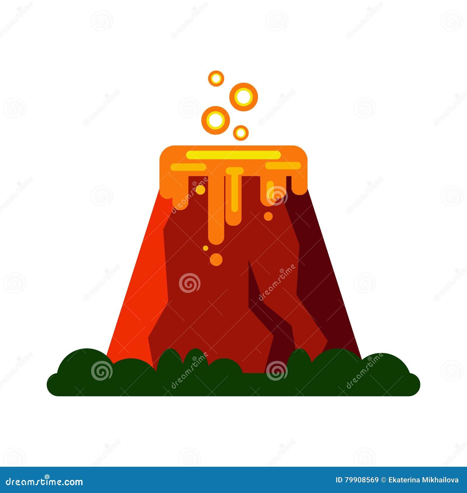 V Is For Volcano Clipart Volcano Cartoon...
