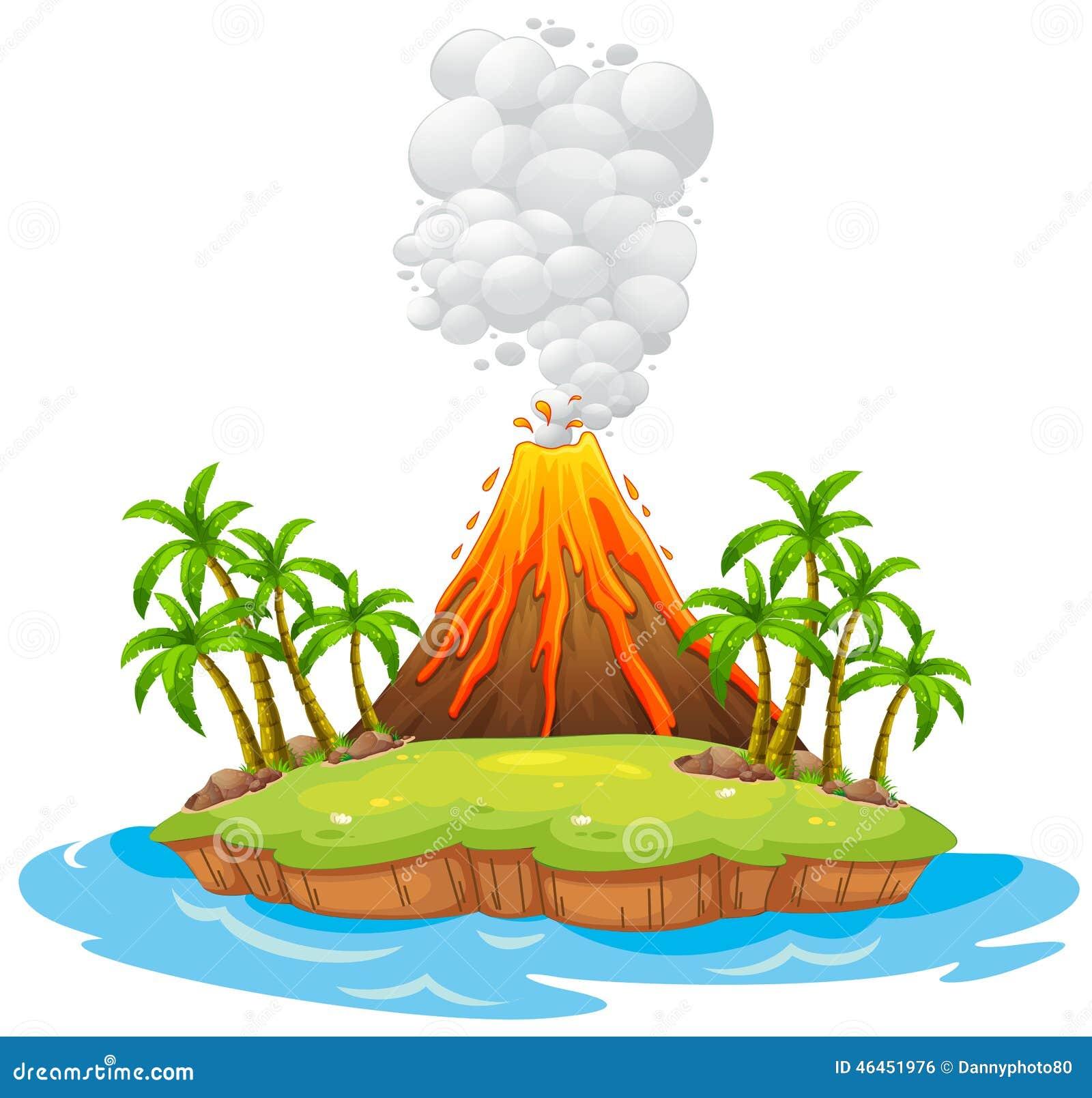 volcano island stock vector image 46451976 clip art volcano w/ lava clip art volcano erupting