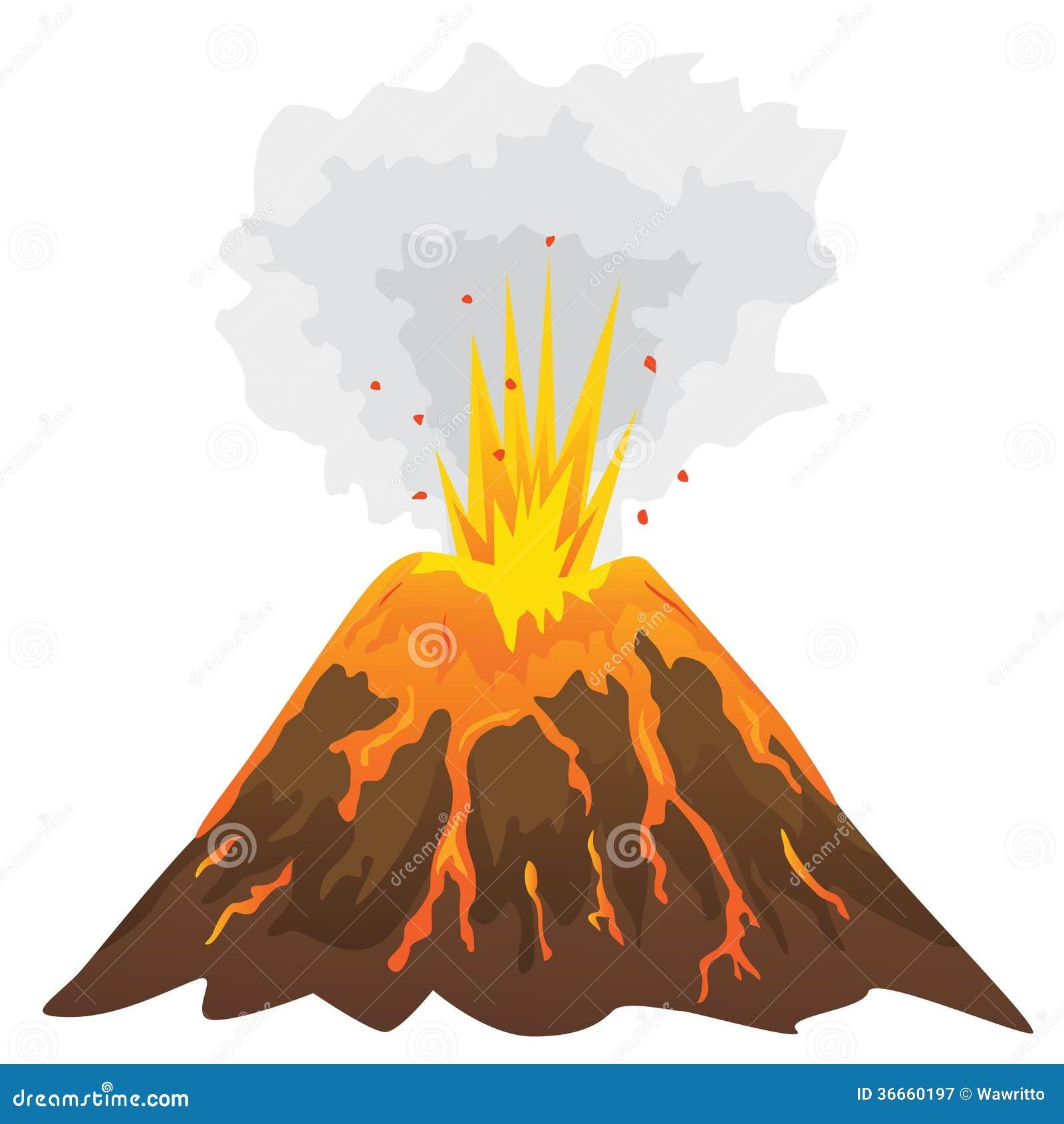 volcano isolated on white background    stock vector volcano clip art for kids volcano clip art png