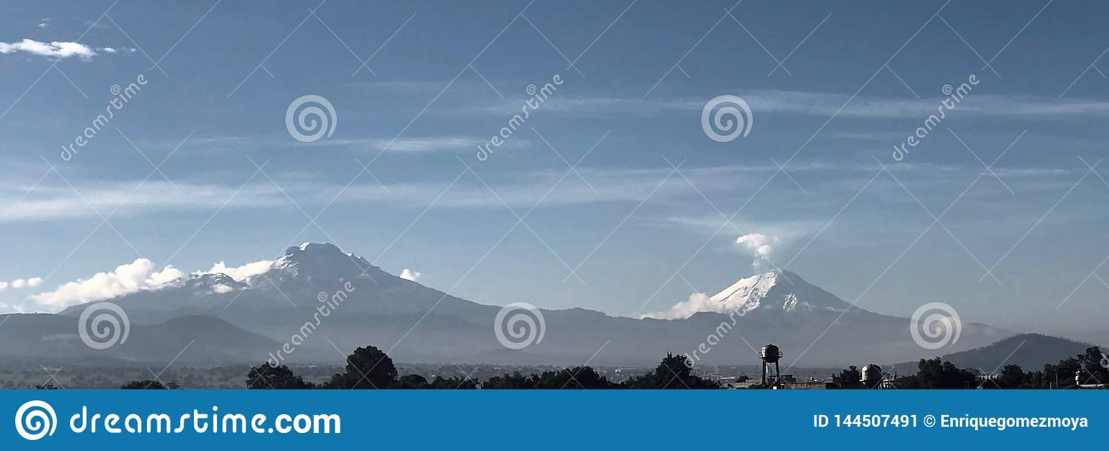 Volcanos view from Mexico City