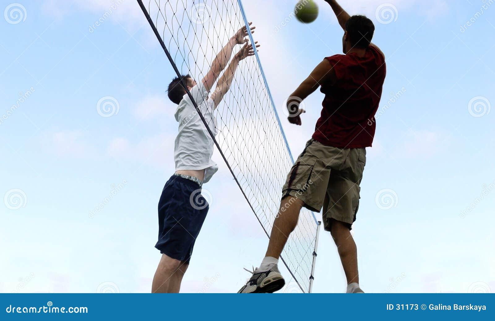 Download Voleibol de la playa foto de archivo editorial. Imagen de lifestyle - 31173