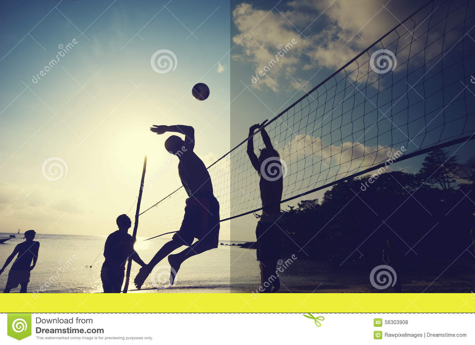 Voleibol De Playa En El Concepto Del Trabajo En Equipo De La ...