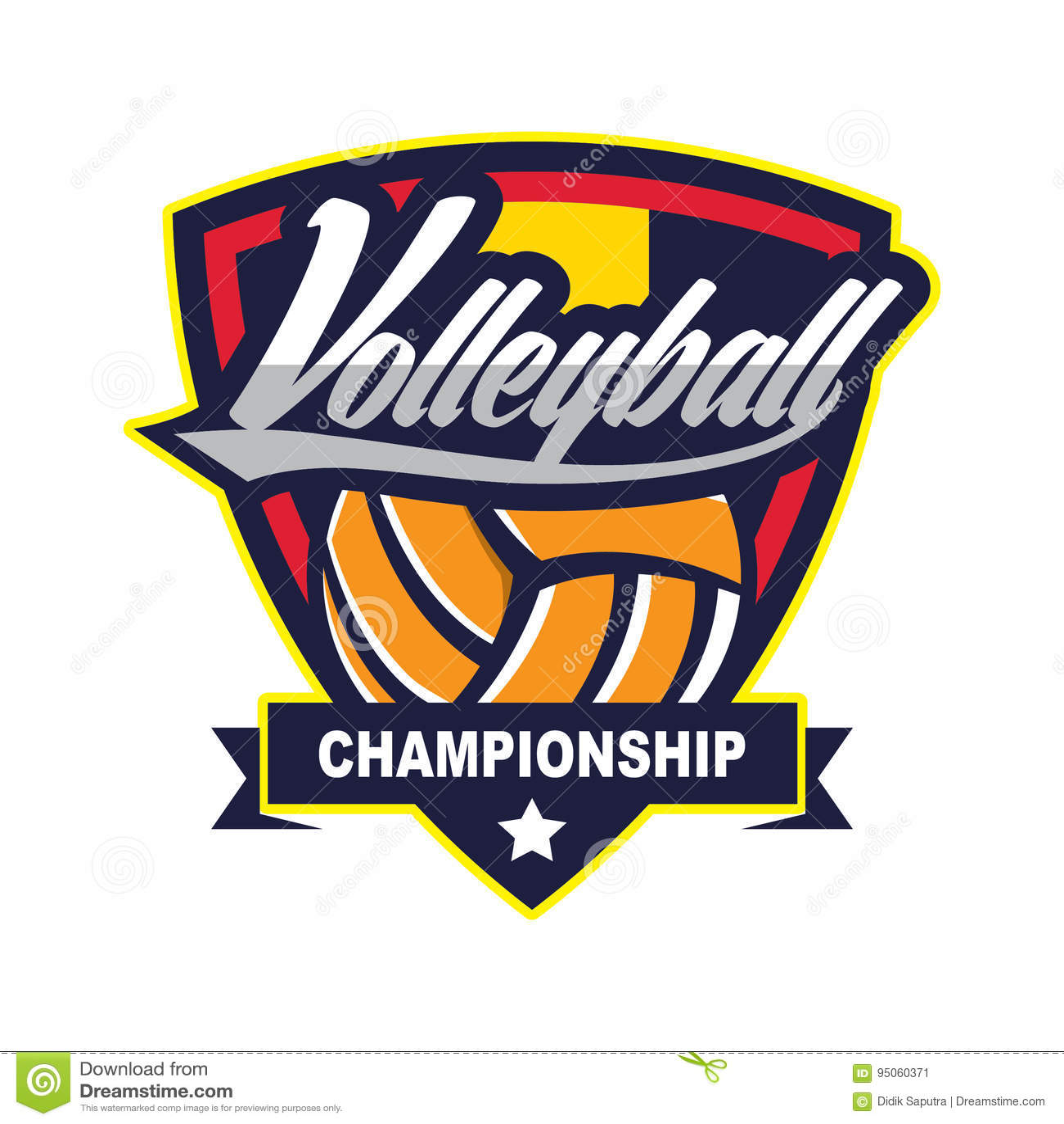 Voleibol Logo Badge, americano Logo Sport