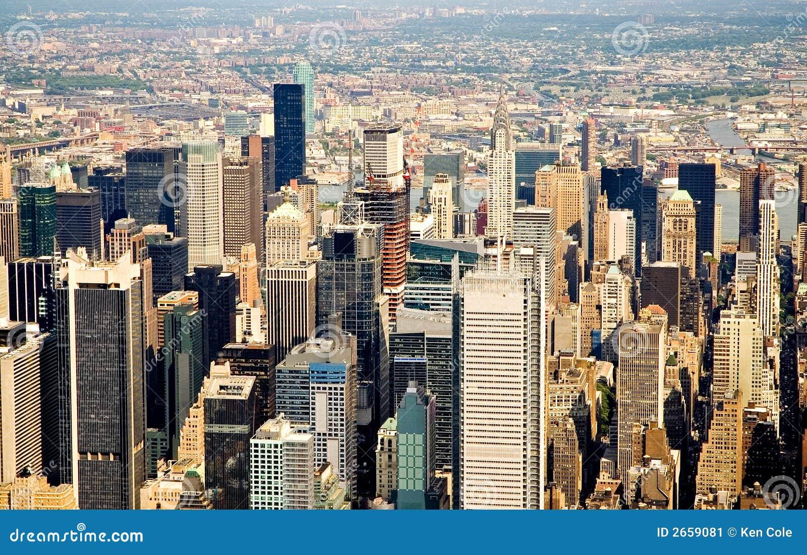 Voler au-dessus de New York City