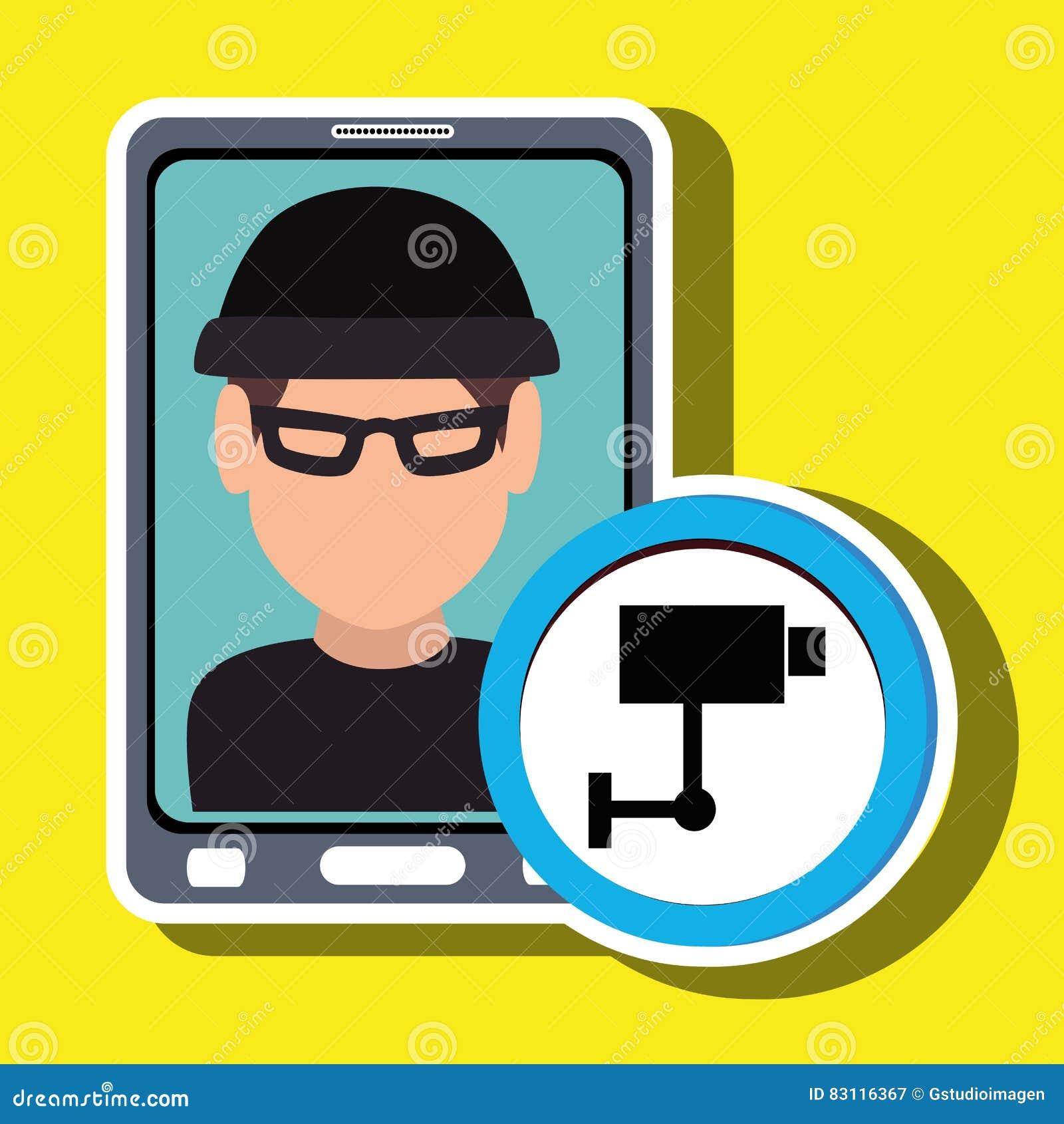 Voleur de smartphone d homme sûr