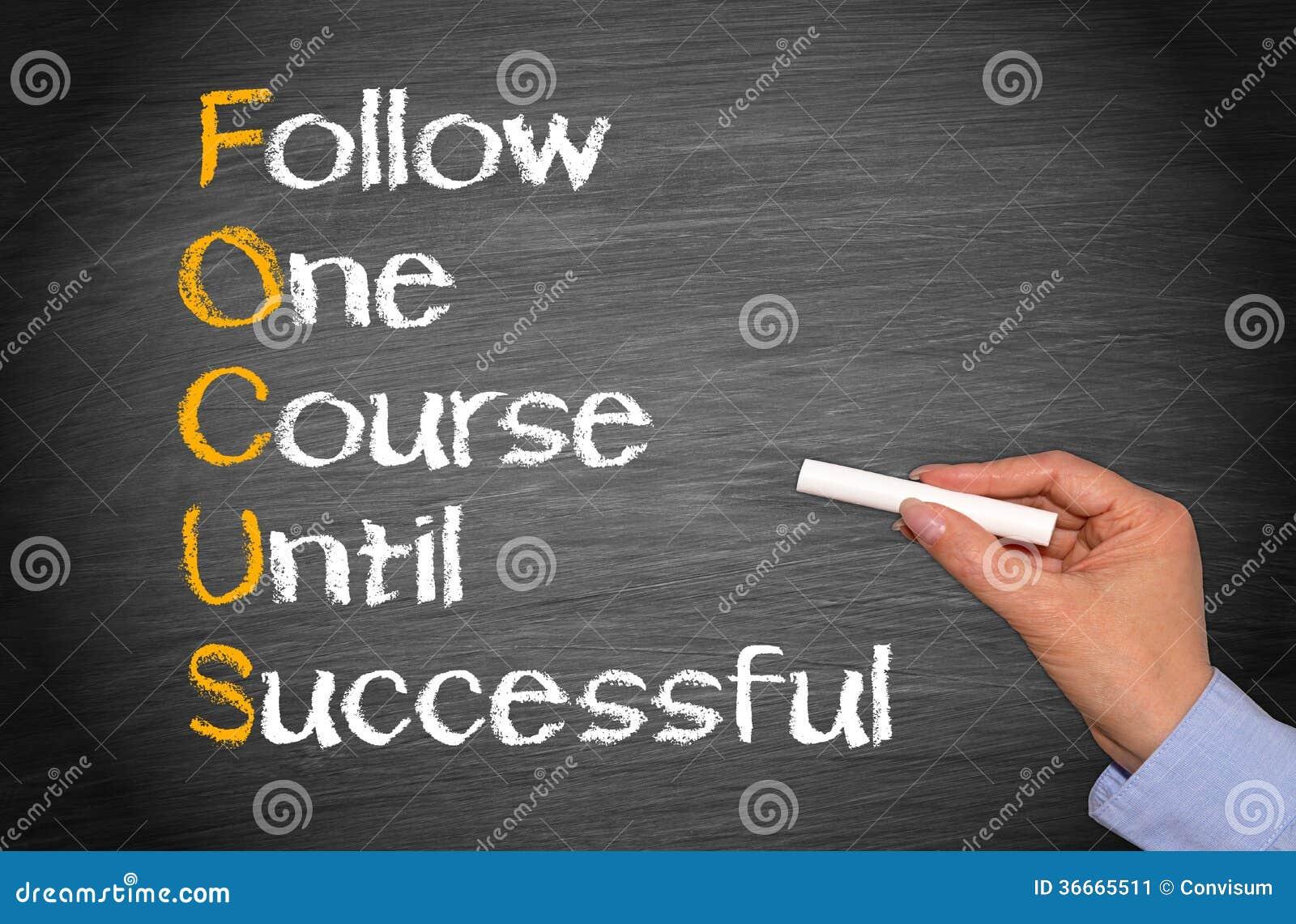 Volg één cursus tot succesvol
