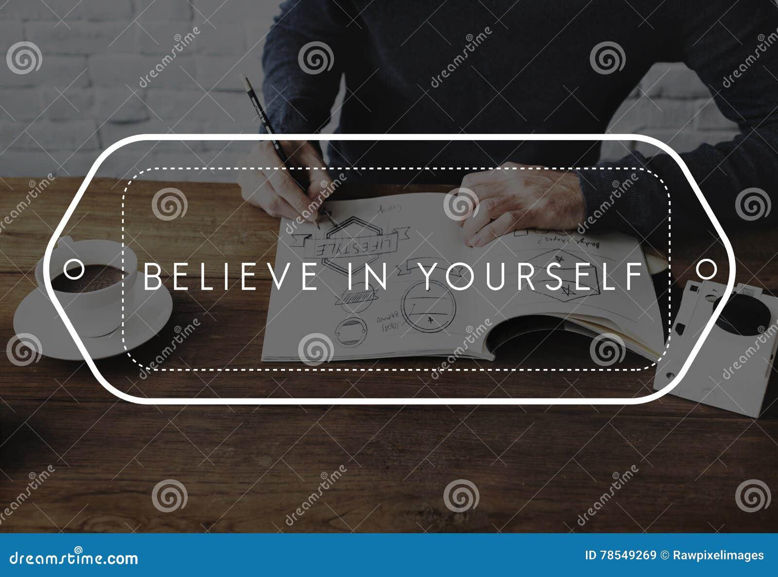 Volg Uw Dromen geloven in zich het maak gebeuren Concept