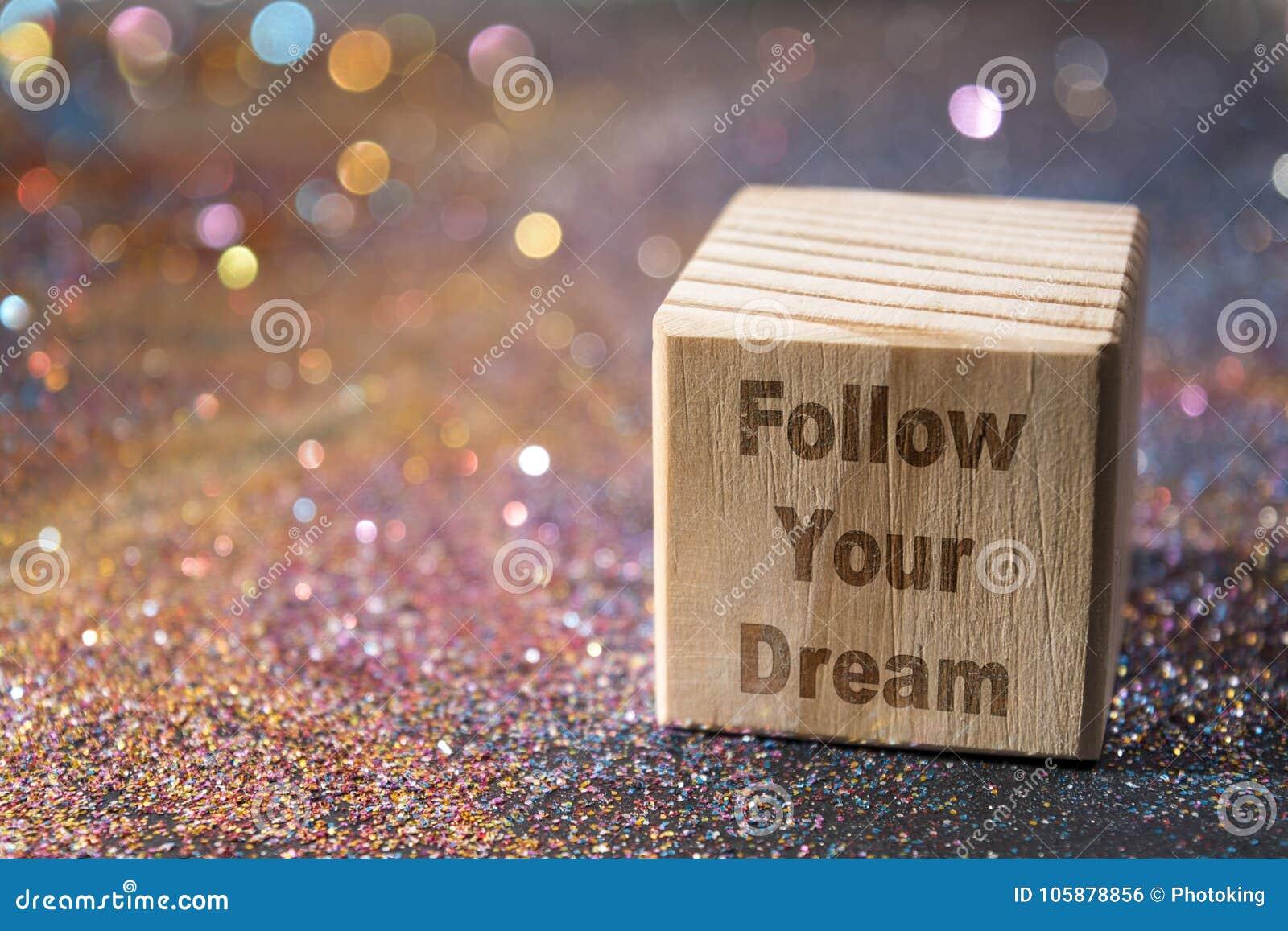 Volg uw droomtekst op kubus