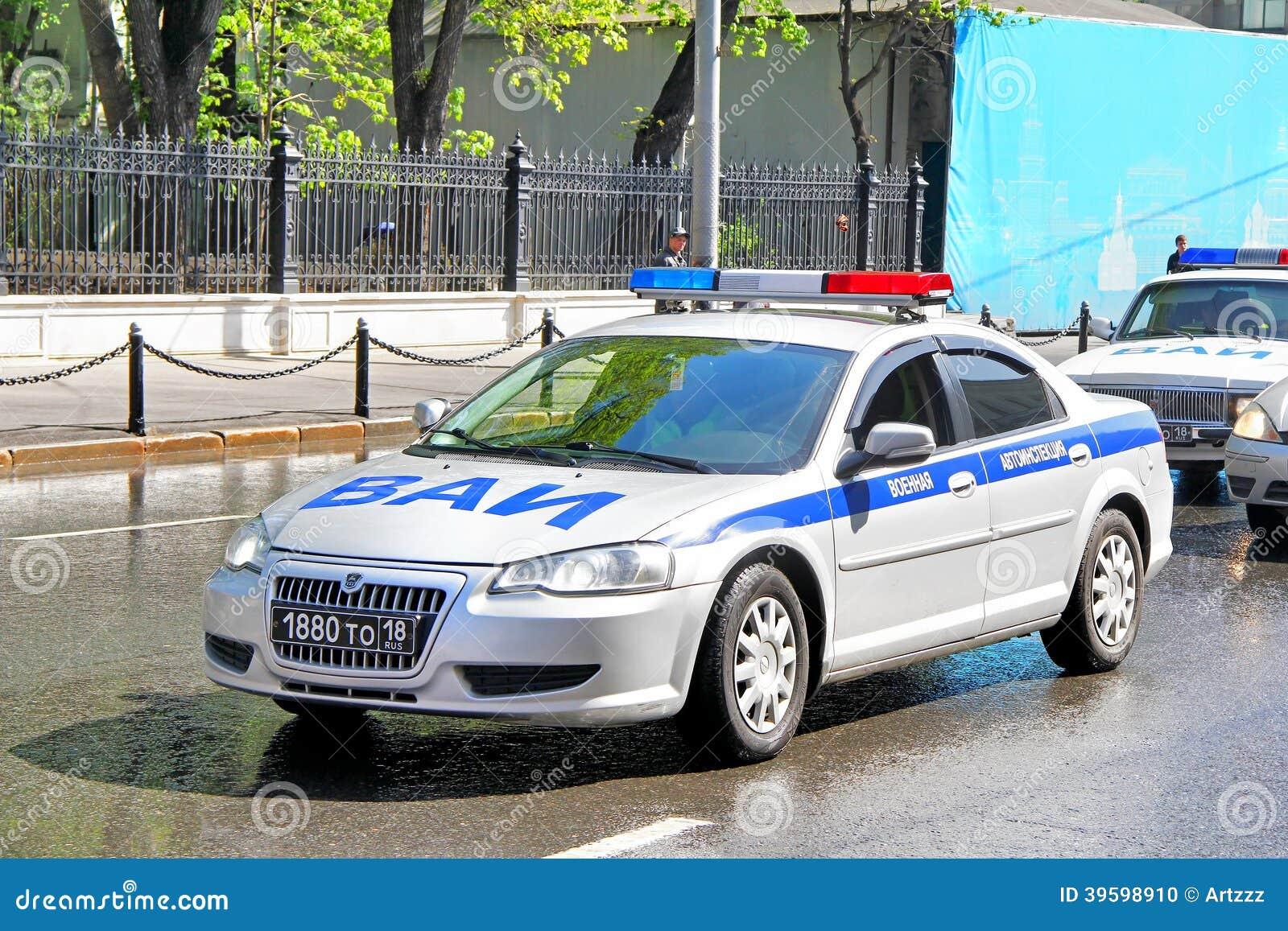 ... - MAY 6, 2012: Russian police car Volga Siber at the city street