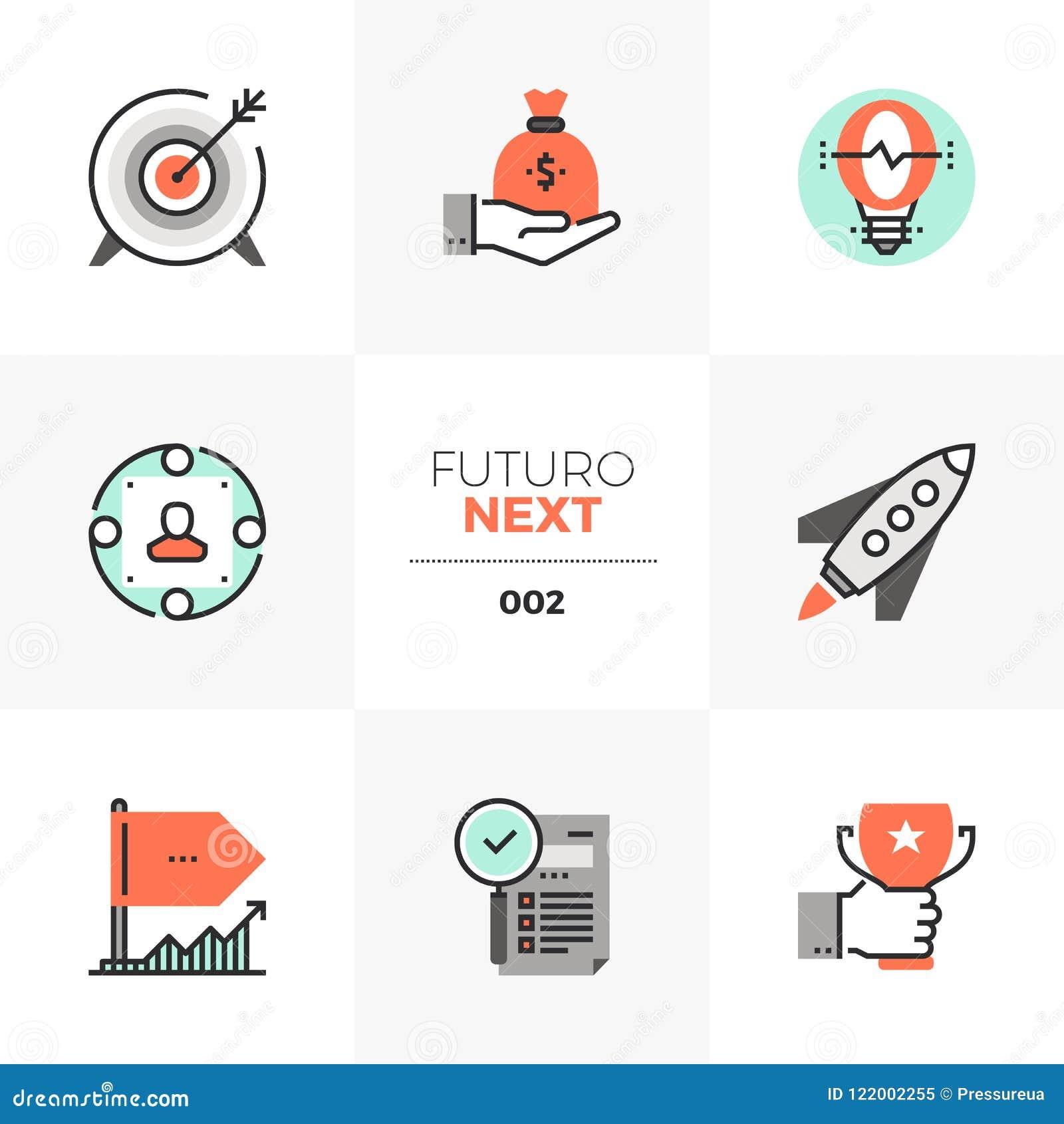 Volgende Pictogrammen bedrijf de Start van Futuro