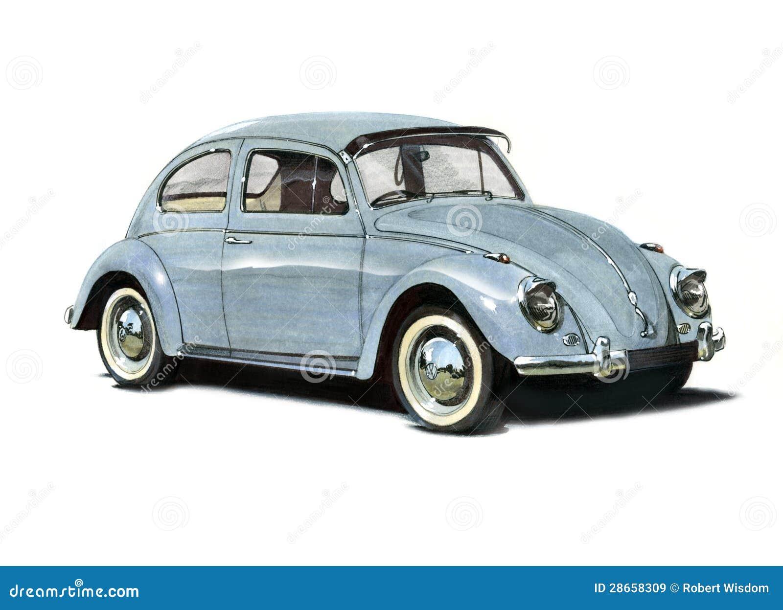 Volkswagen Beetle 1950s editorial stock image. Image of motorcar - 28658309