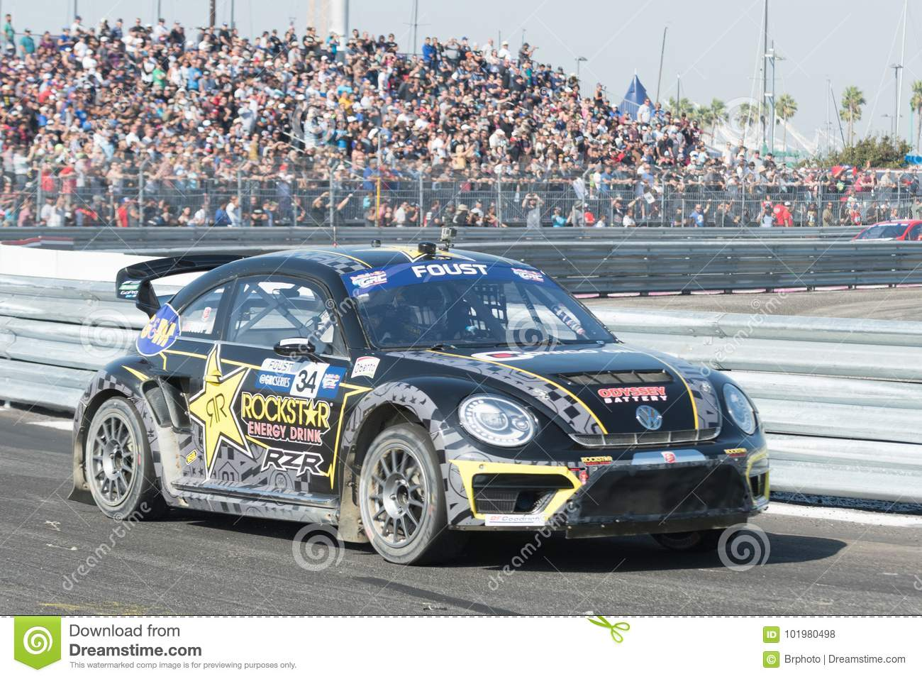 Tanner Foust Vw >> Volkswagen Beetle Driven By 34 Tanner Foust Editorial Stock