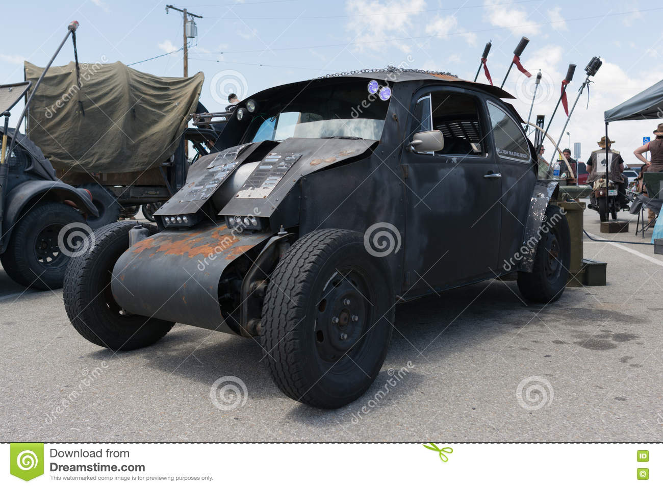Volkswagen Beetle Post-apocalyptic Survival Vehicle Editorial Stock ...