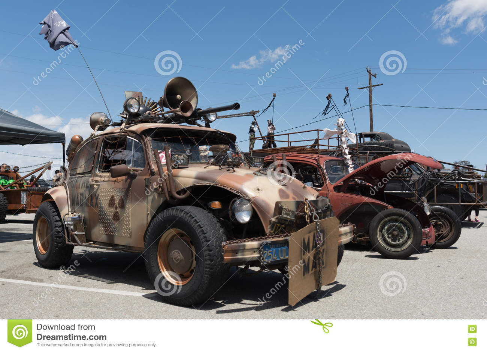 volkswagen beetle post apocalyptic survival vehicle editorial stock photo image